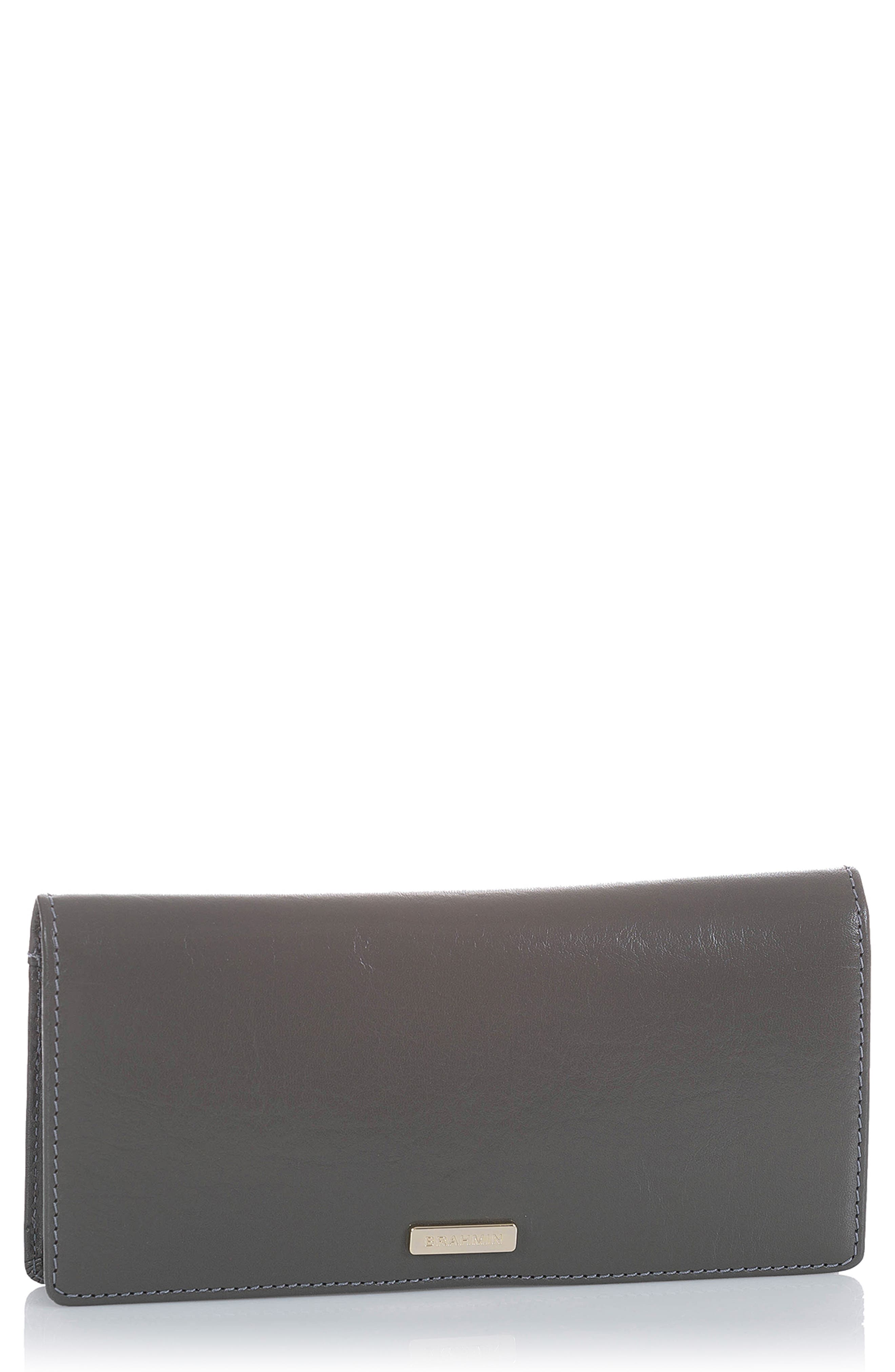 Ady Leather Wallet,                             Alternate thumbnail 4, color,                             CHARCOAL