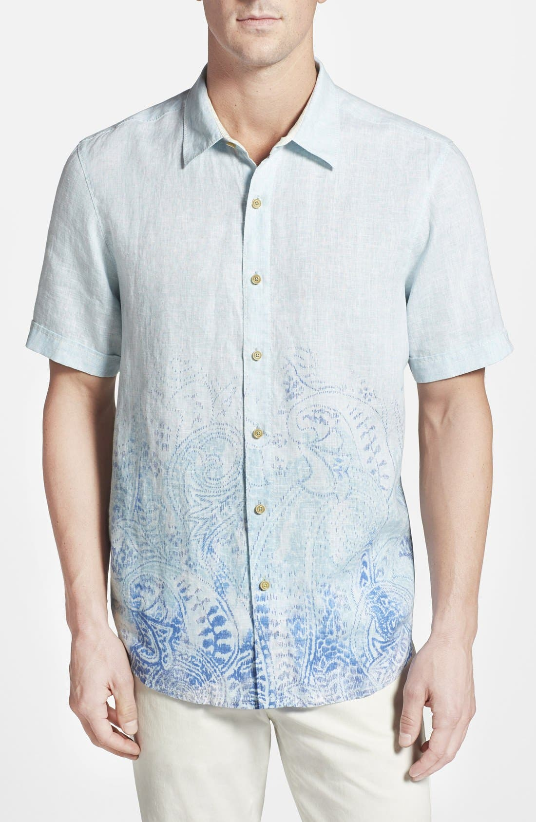 TOMMY BAHAMA,                             'Pazatano Breezer' Island Modern Fit Short Sleeve Sport Shirt,                             Main thumbnail 1, color,                             400