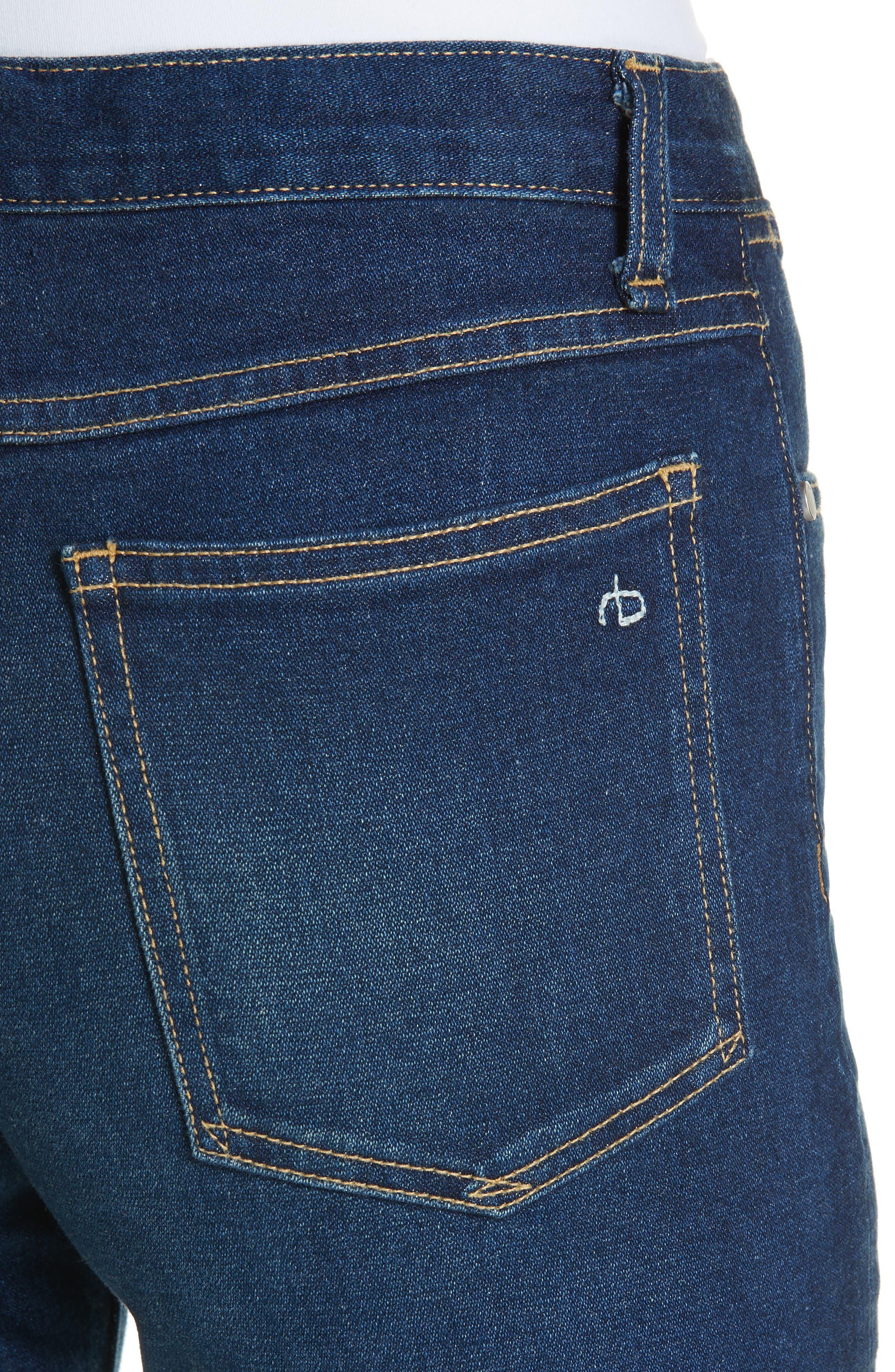 RAG & BONE,                             Justine High Waist Crop Wide Leg Jeans,                             Alternate thumbnail 4, color,                             410