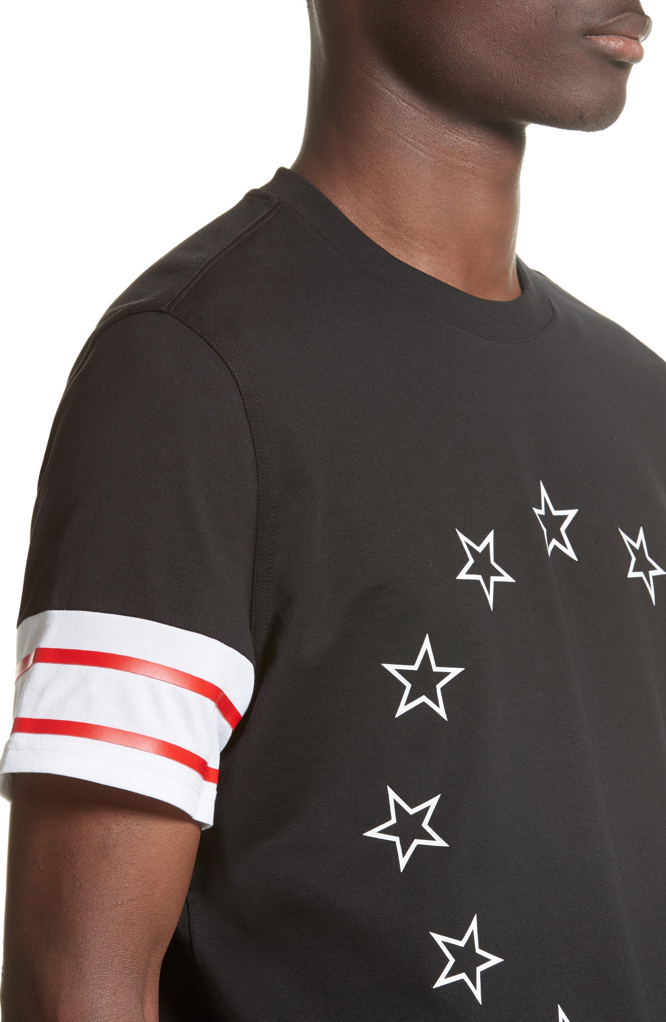 Cuban Fit Circle Star Graphic T-Shirt,                             Alternate thumbnail 4, color,                             001