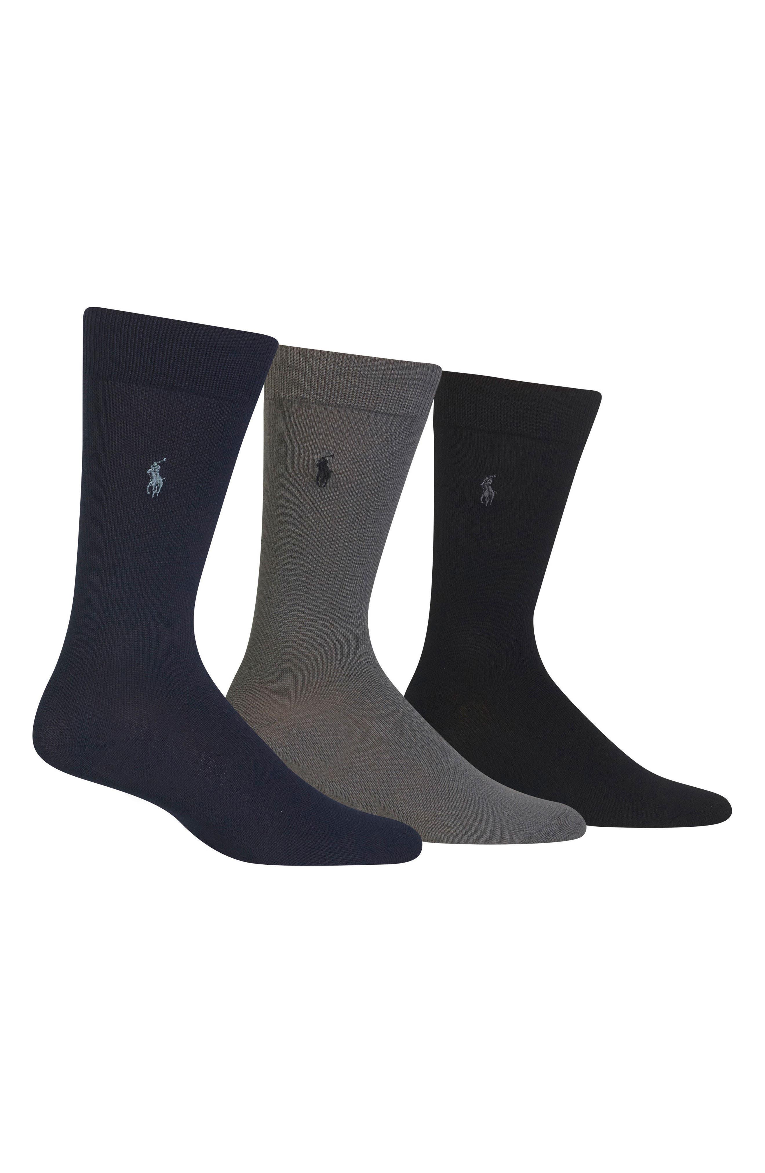 Assorted 3-Pack Supersoft Socks,                             Alternate thumbnail 2, color,                             NAVY MULTI