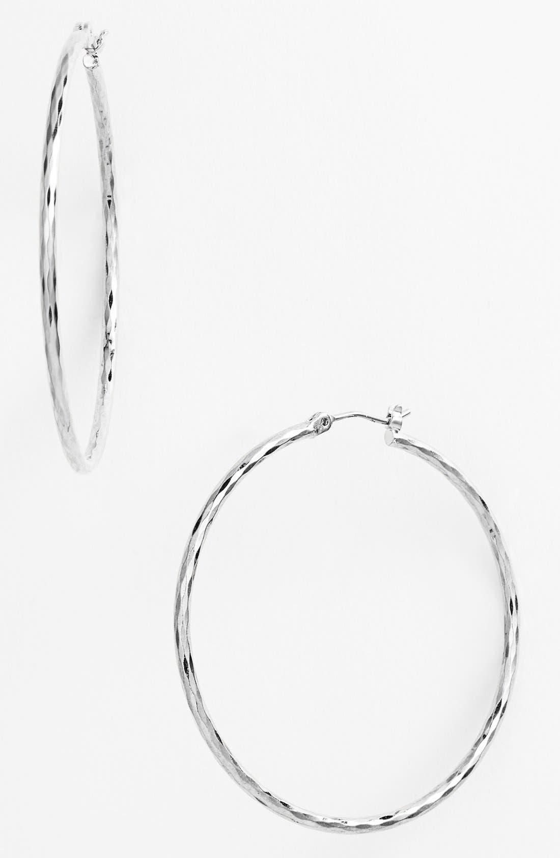 Harlequin Facet Hoop Earrings, Main, color, 040
