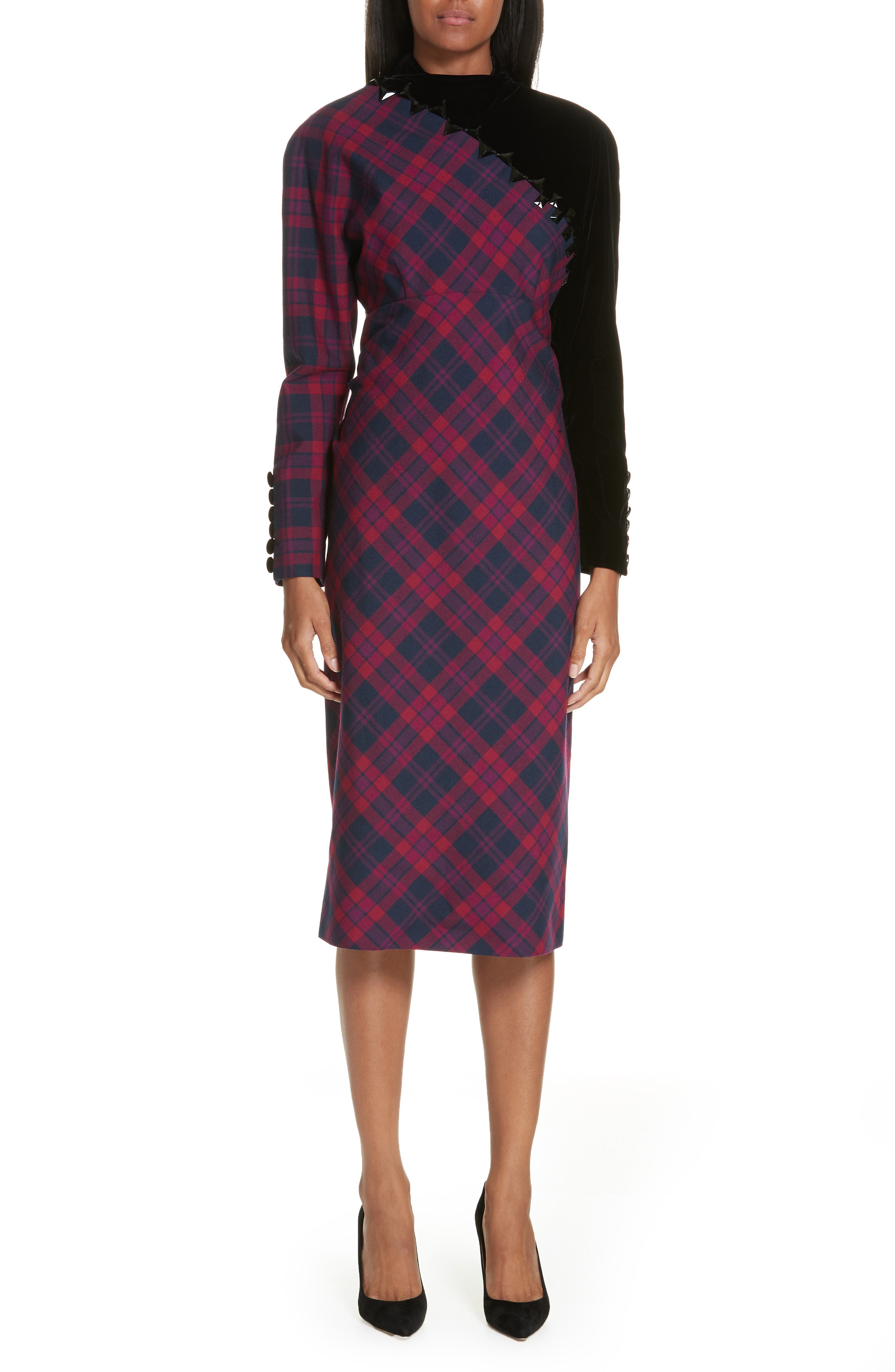 Marc Jacobs Embellished Plaid Dress, Pink
