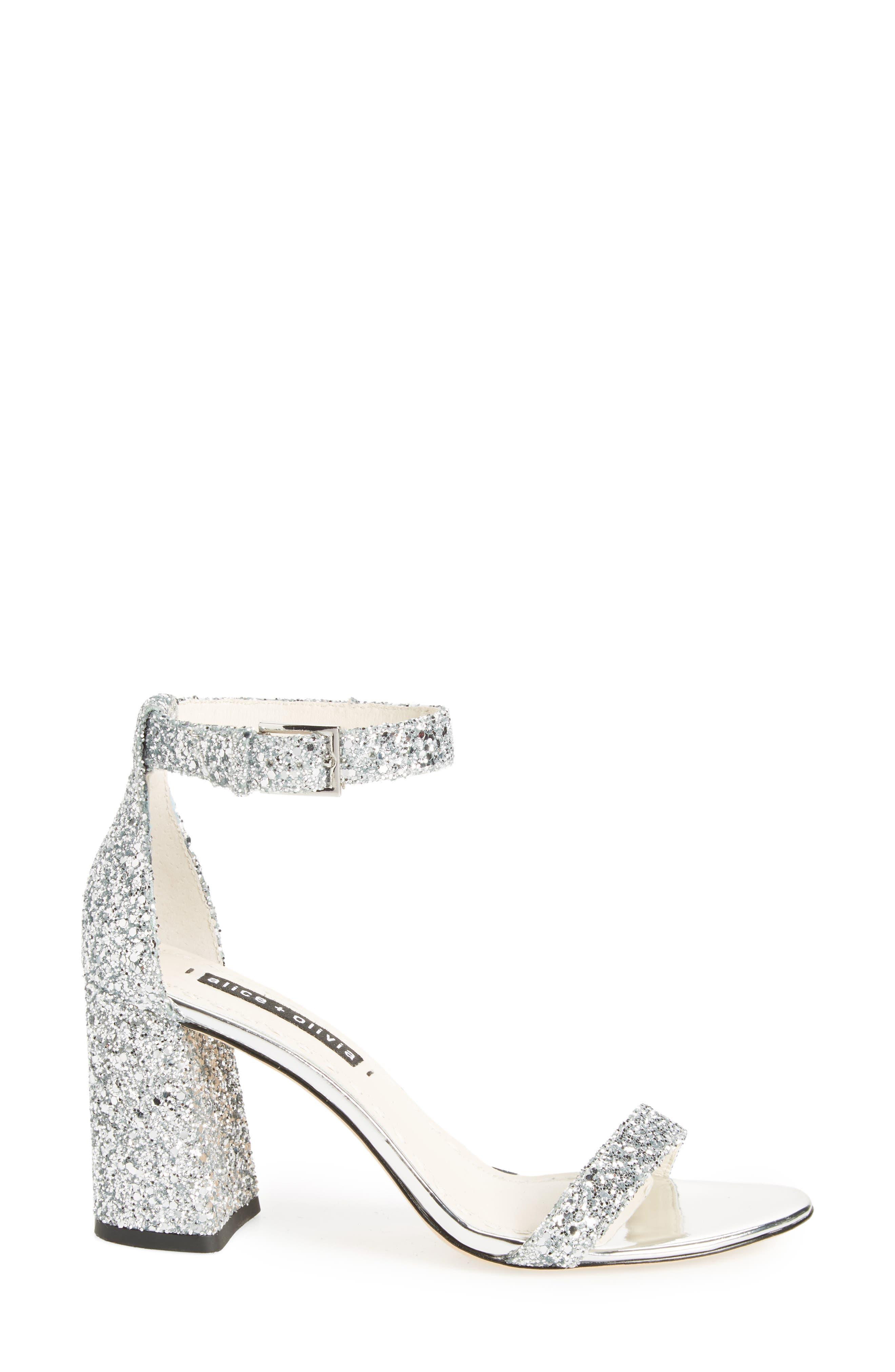 Lillian Glitter Ankle Strap Sandal,                             Alternate thumbnail 3, color,                             020