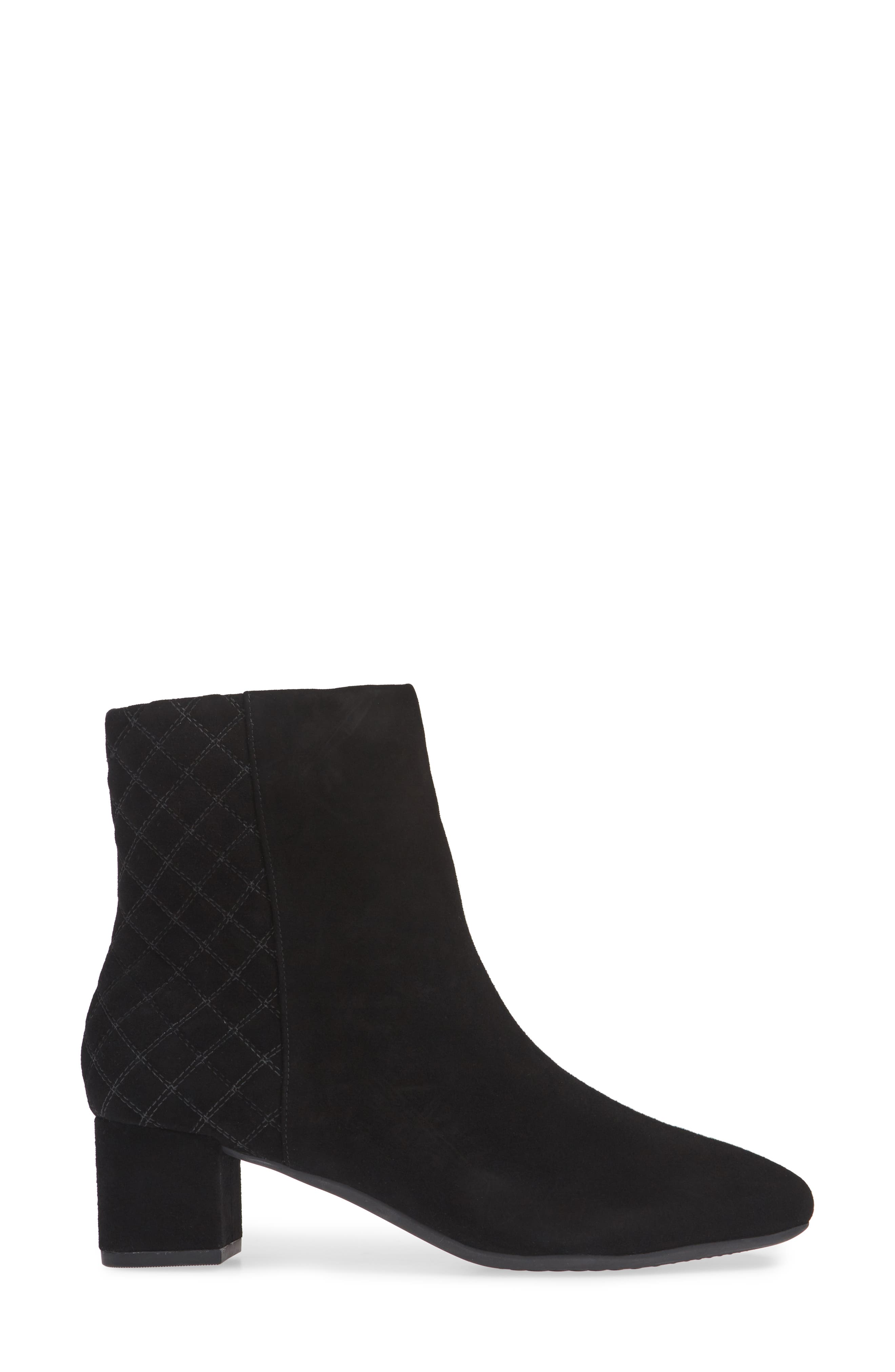 Tealia Luck Bootie,                             Alternate thumbnail 3, color,                             BLACK SUEDE