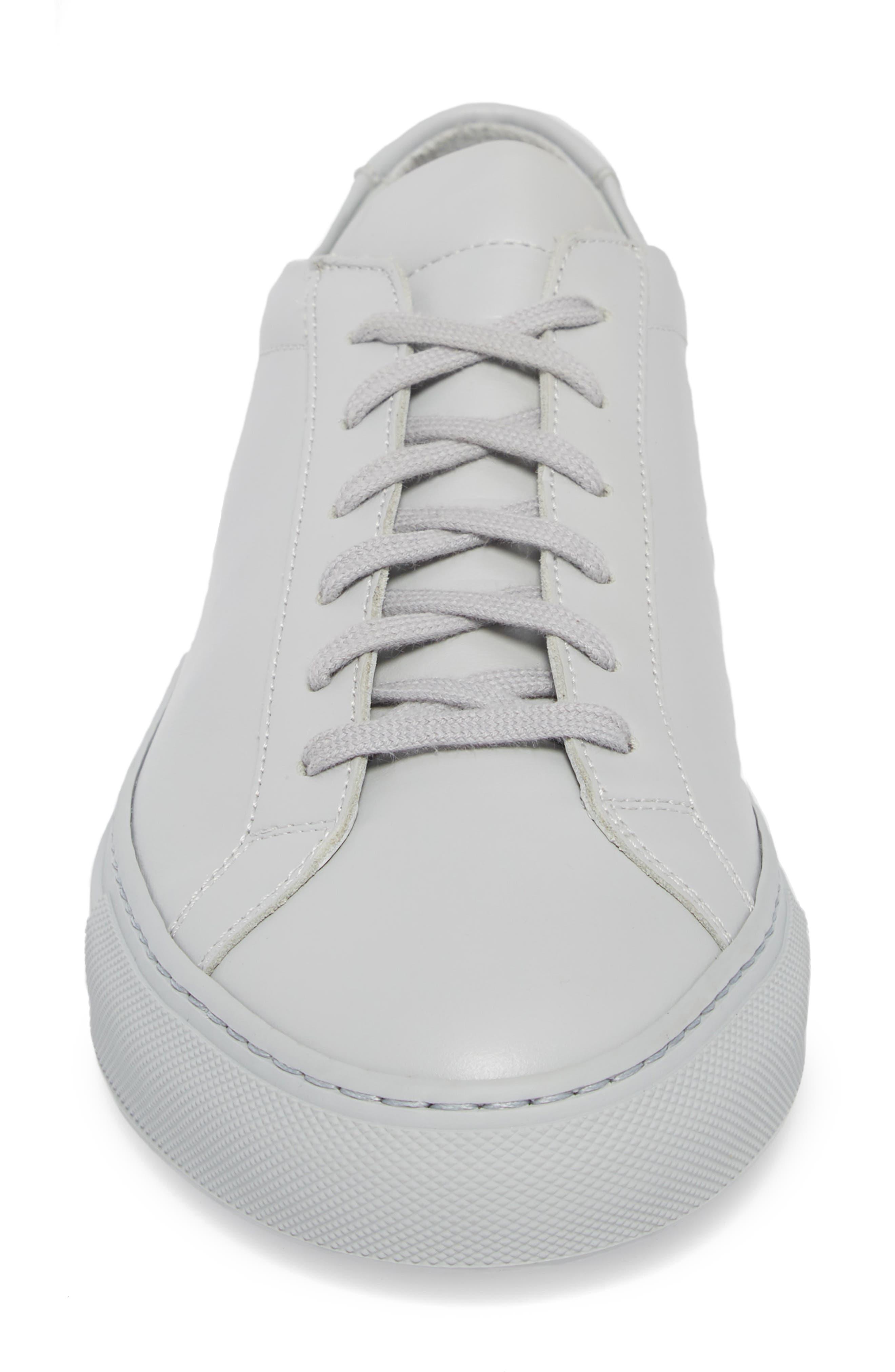 Original Achilles Sneaker,                             Alternate thumbnail 4, color,                             GREY LEATHER