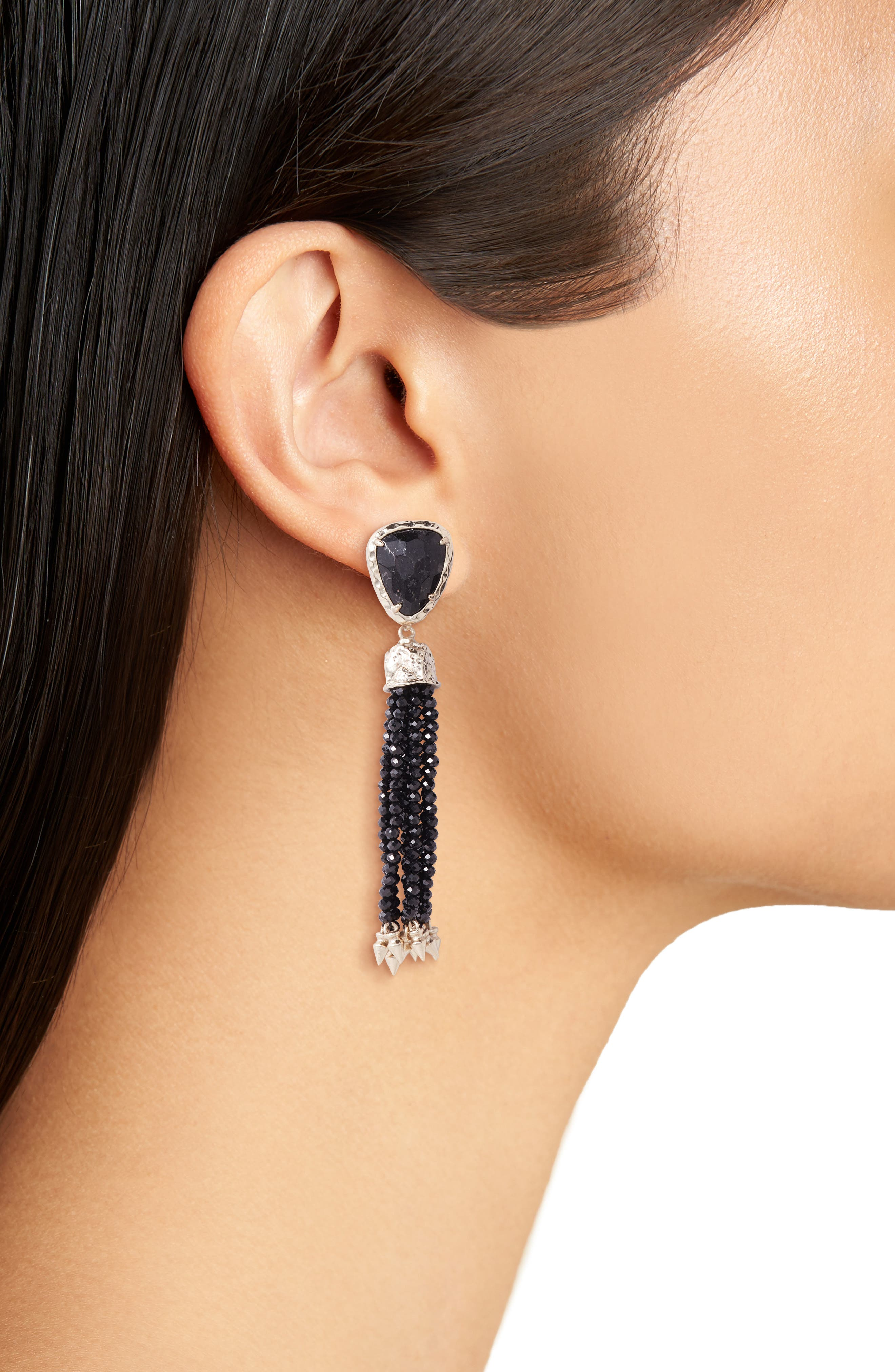 Blossom Tassel Drop Earrings,                             Alternate thumbnail 2, color,                             710
