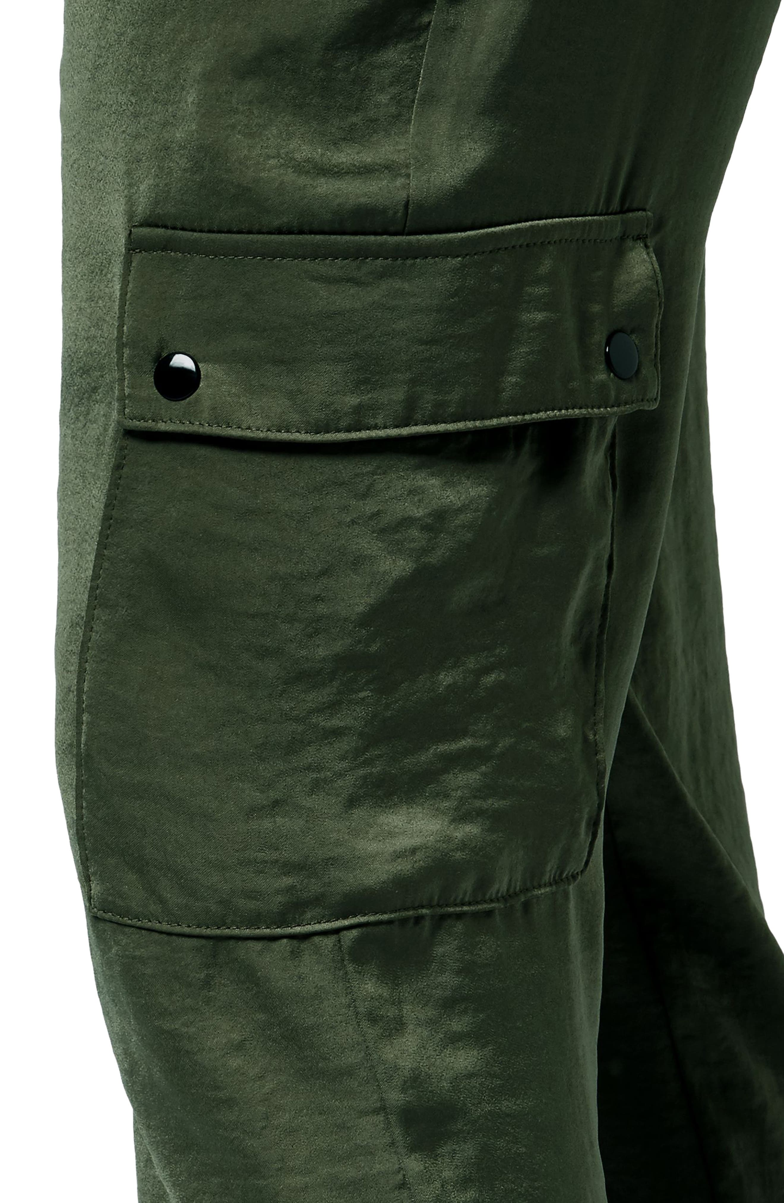 Cargo Luxe Ankle Pants,                             Alternate thumbnail 4, color,                             OLIVE