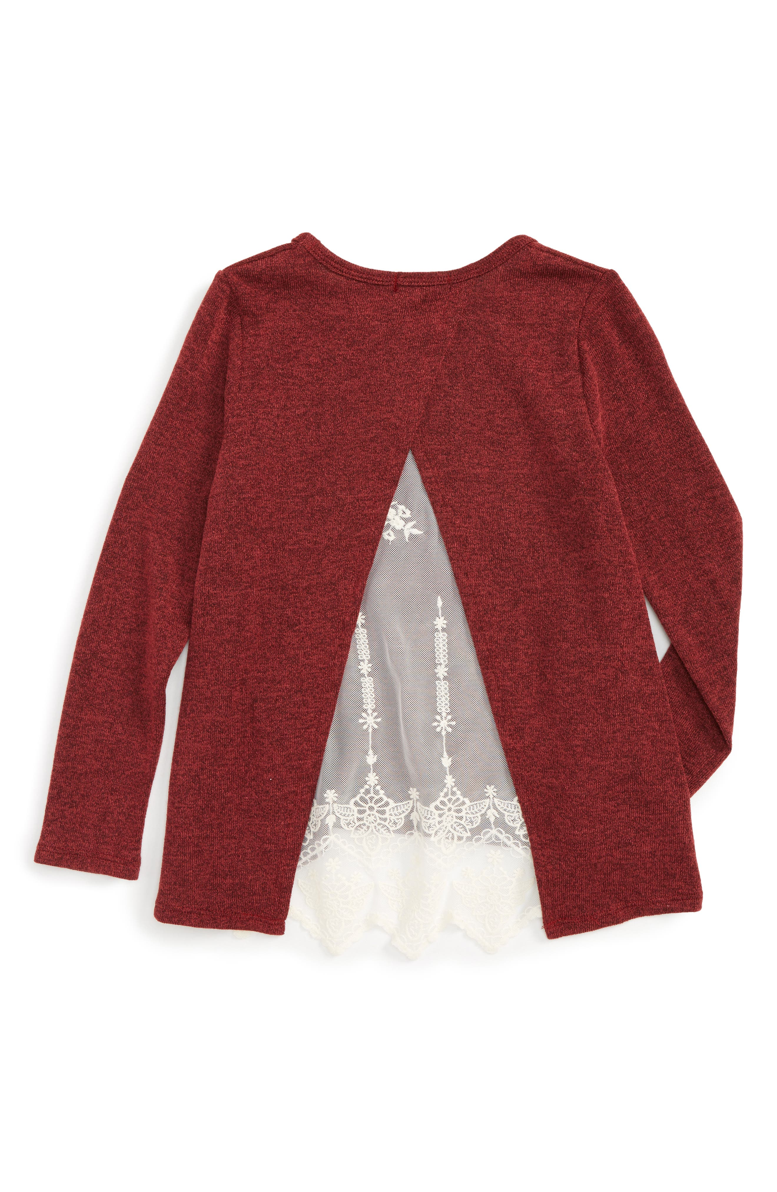 Lace Back Sweater,                             Alternate thumbnail 4, color,