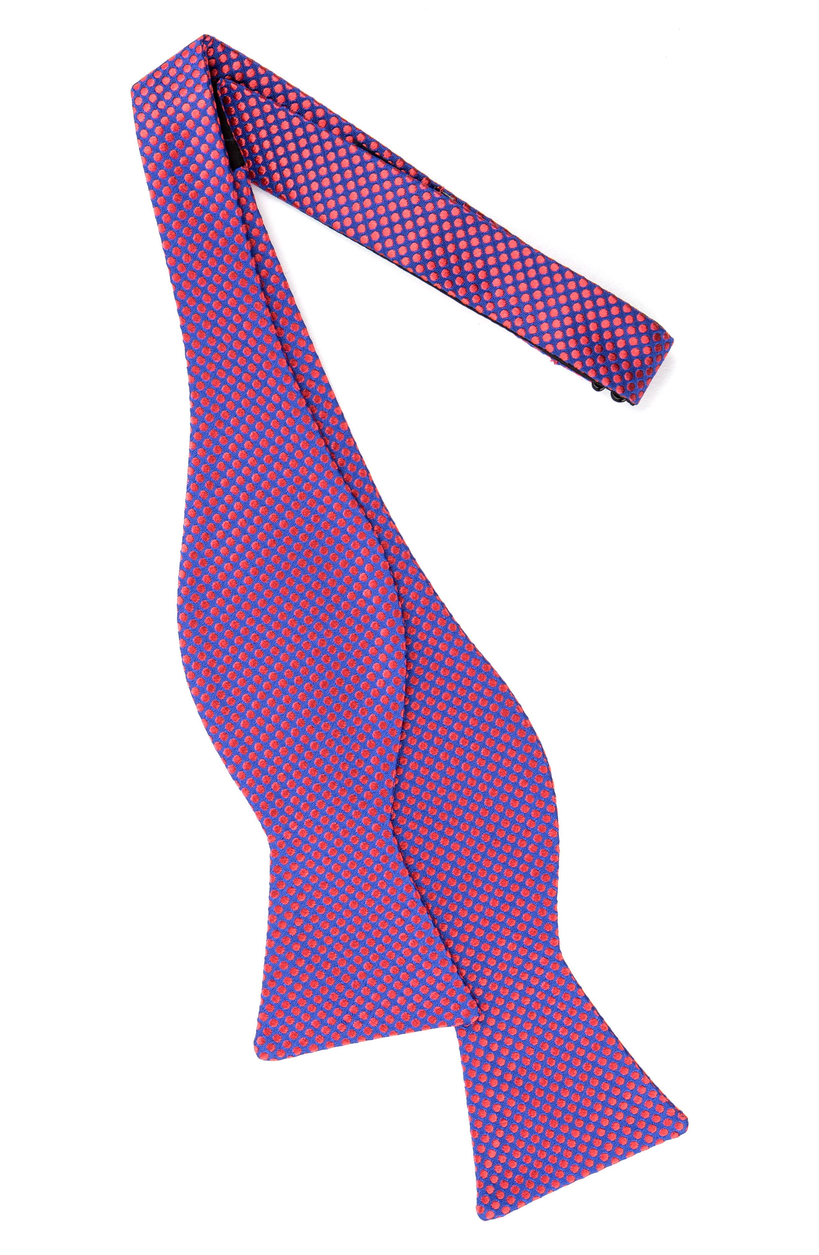 Dot Silk Bow Tie,                             Alternate thumbnail 7, color,