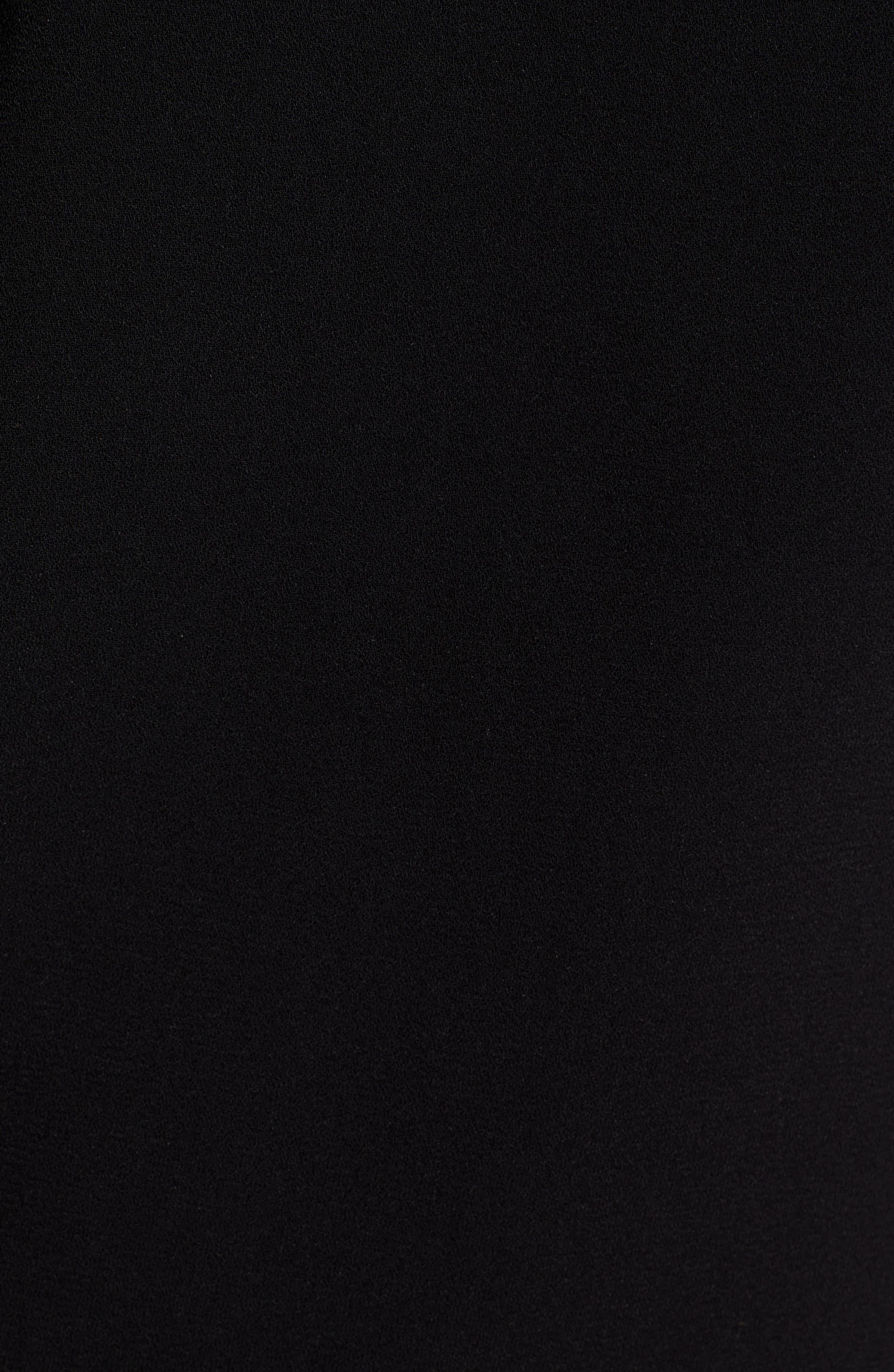 Tie Sleeve Shift Dress,                             Alternate thumbnail 7, color,                             RICH BLACK