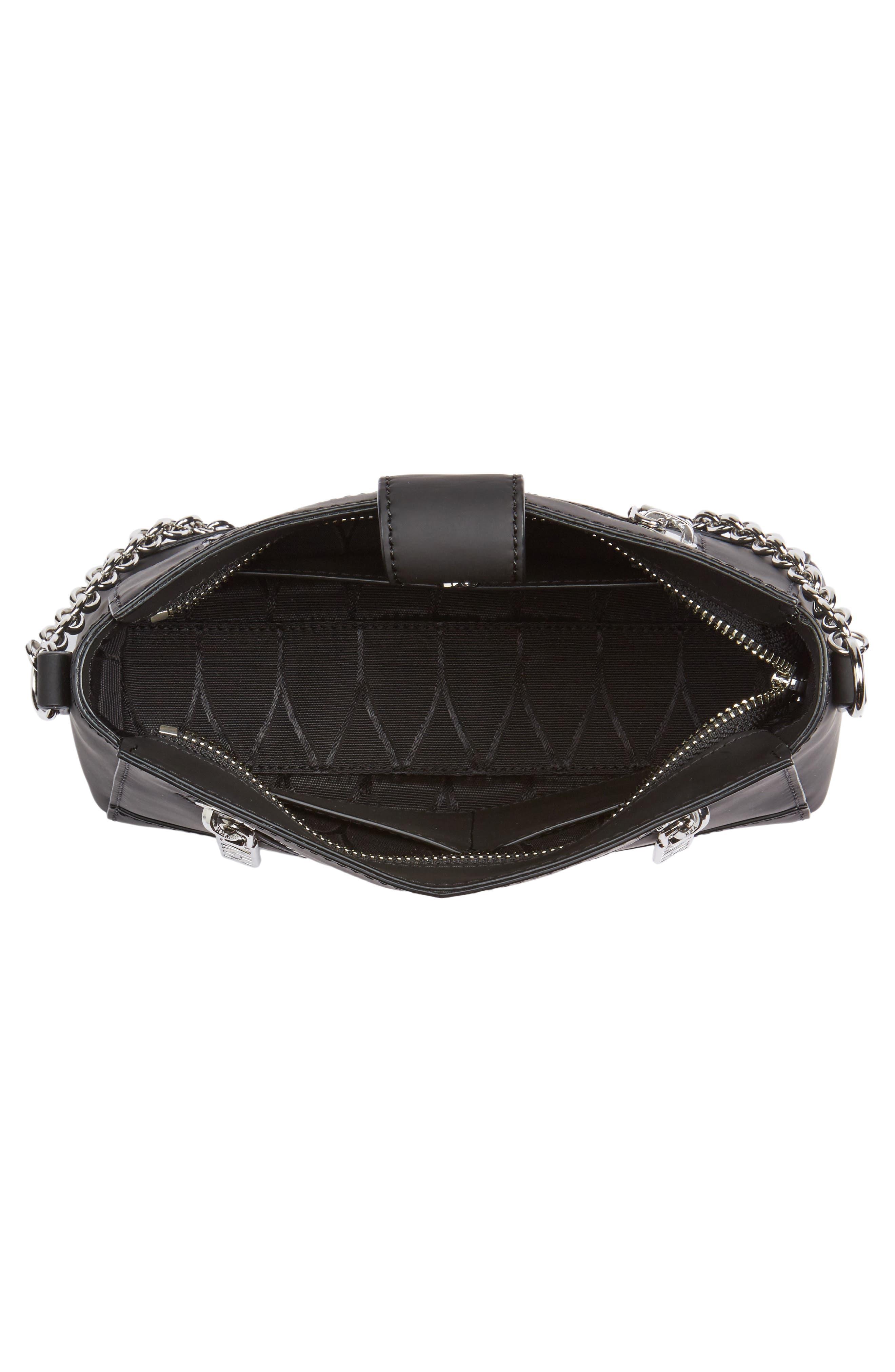Mini Kalifornia Grommato Leather Shoulder Bag,                             Alternate thumbnail 4, color,                             001