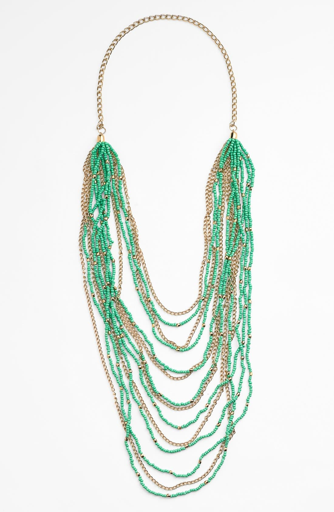 Beaded Layered Necklace,                         Main,                         color, 300