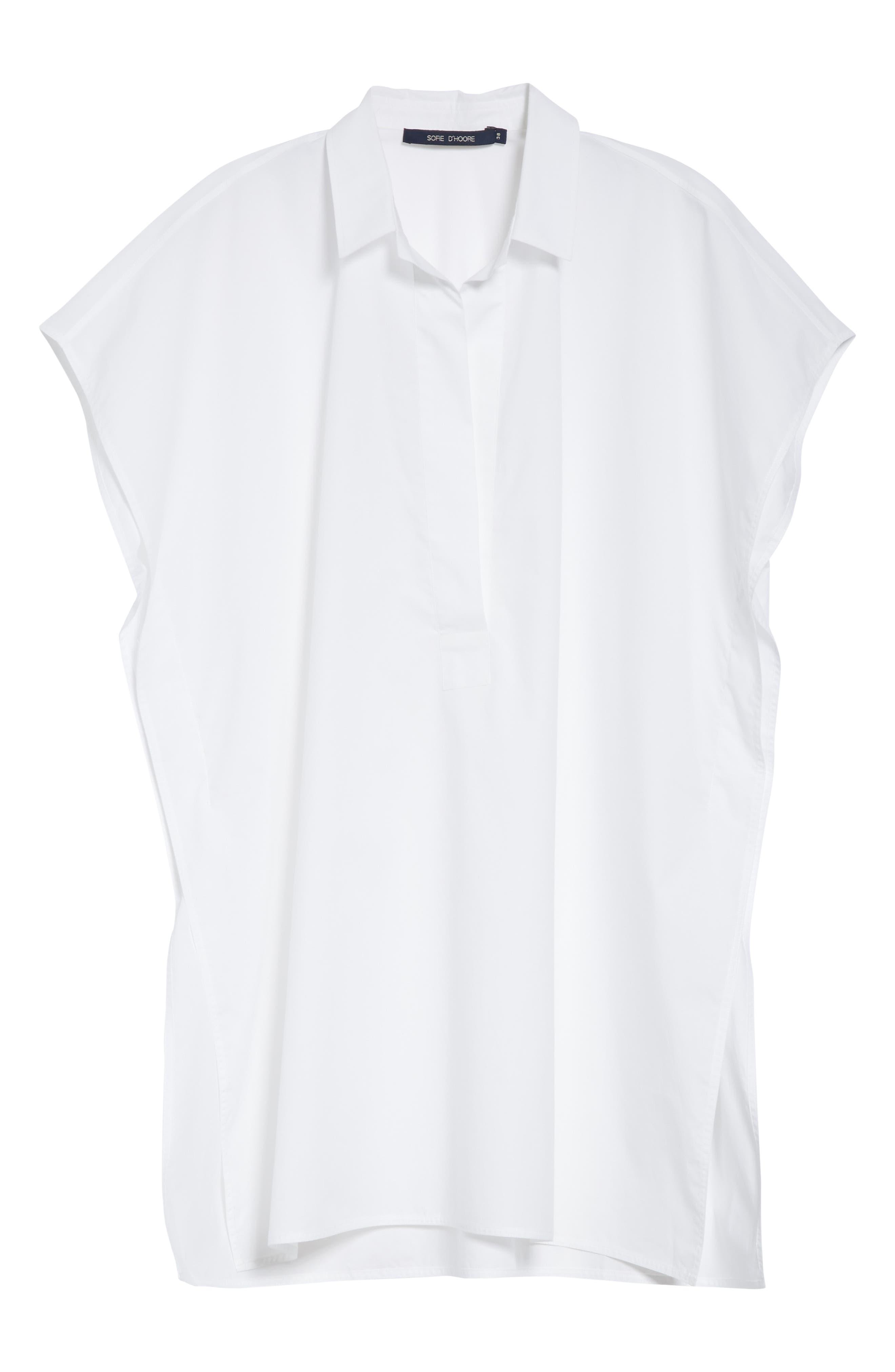 Oversize Dolman Sleeve Blouse,                             Alternate thumbnail 6, color,                             OPTICAL WHITE