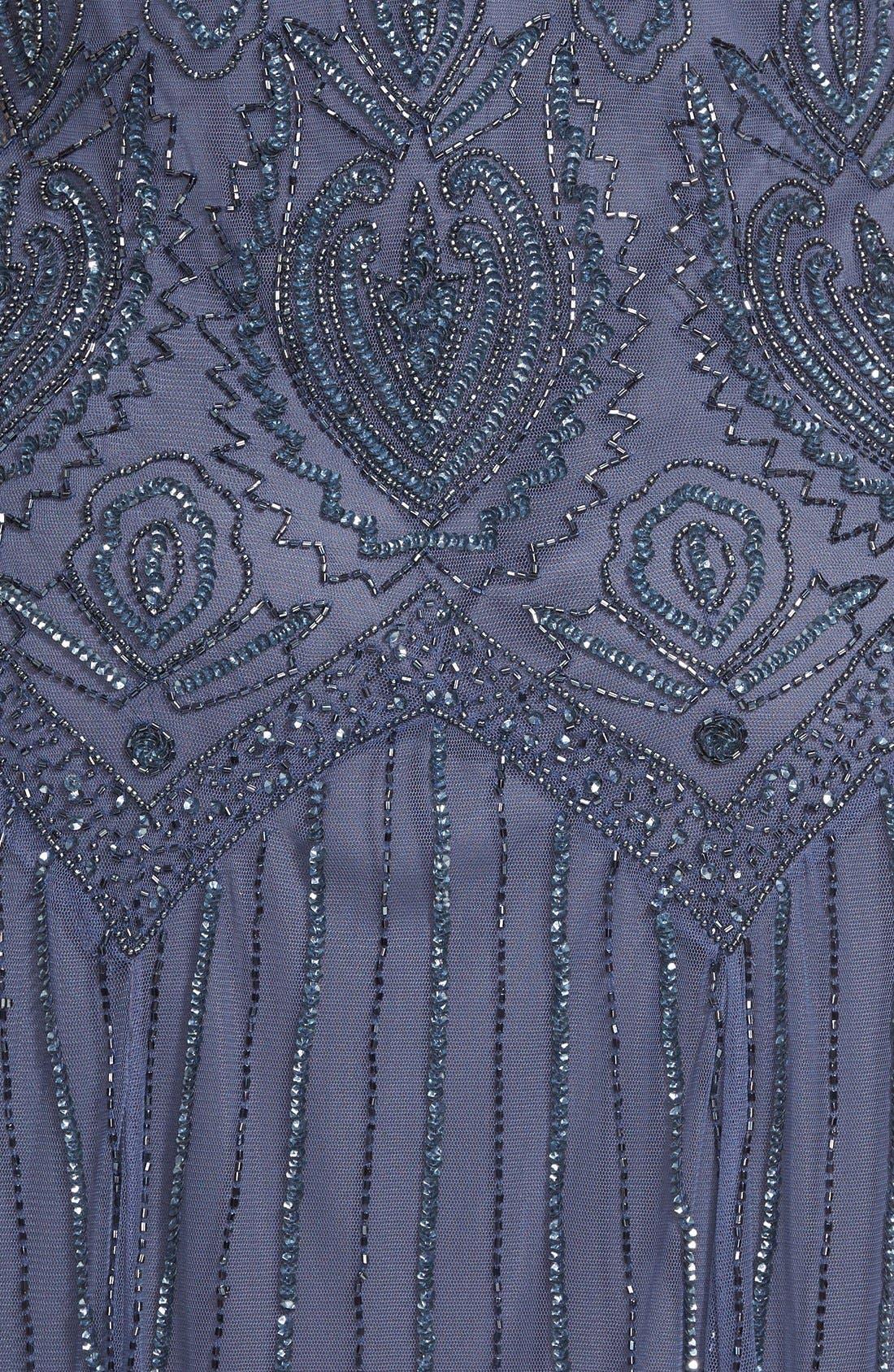 Beaded V-Neck Gown & Jacket,                             Alternate thumbnail 9, color,