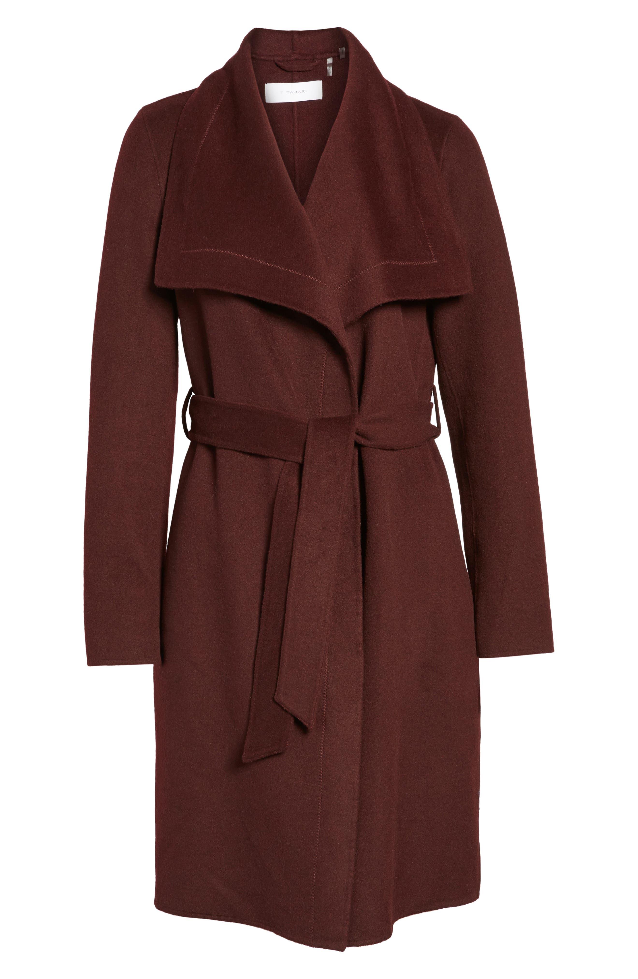 Ellie Double Face Wool Blend Wrap Coat,                             Alternate thumbnail 15, color,
