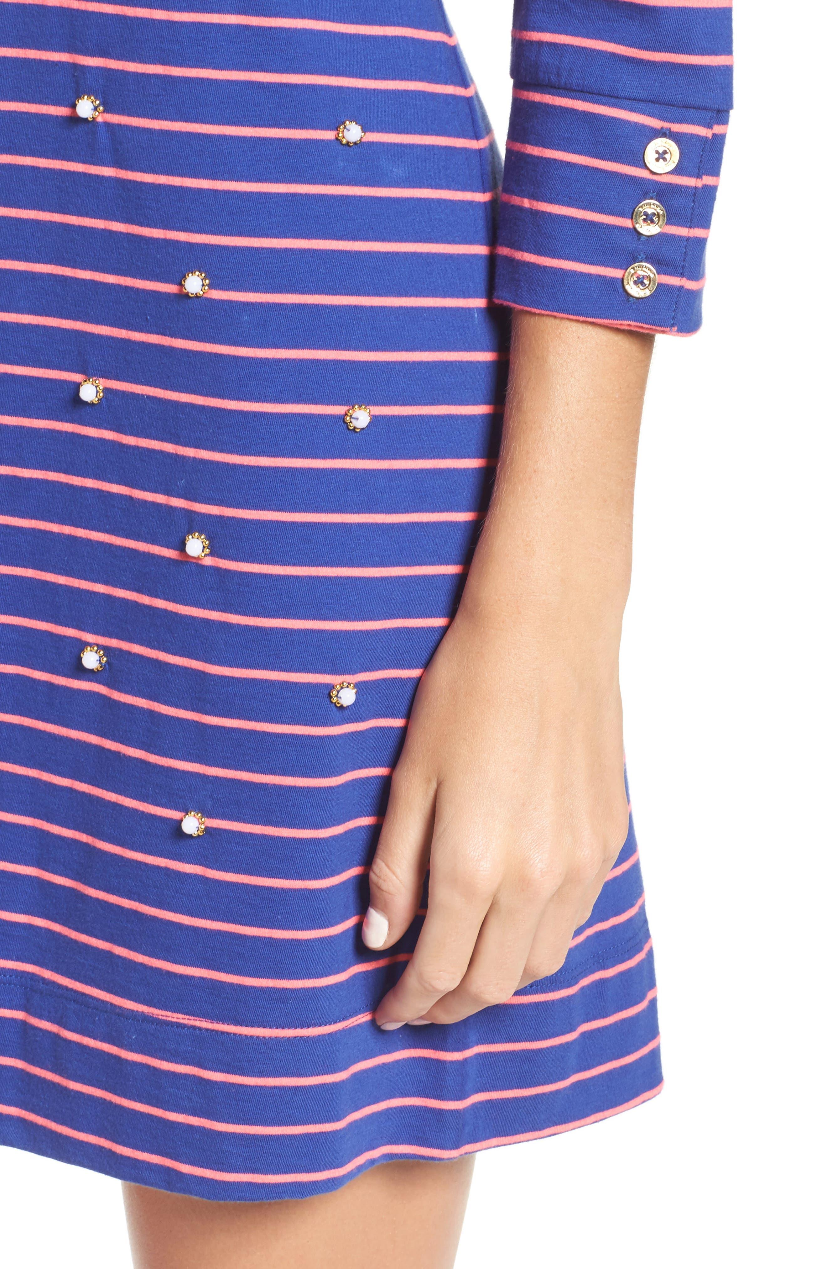 Merrit Beaded T-Shirt Dress,                             Alternate thumbnail 4, color,