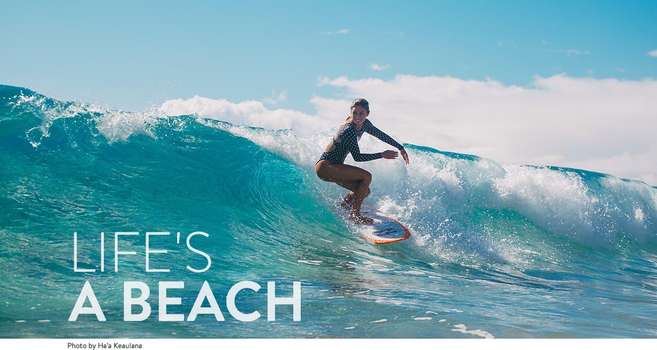 Life's a beach: professional surfer Alessa Quizon.
