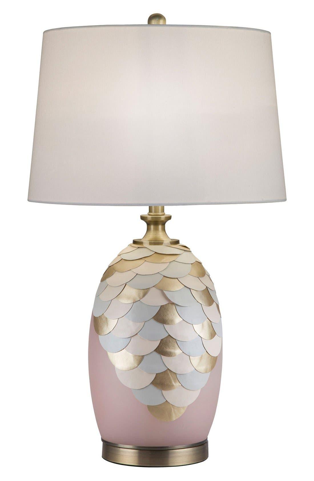 JAlexander Rose Quartz Table Lamp with Faux Leather & Brass Accents,                             Main thumbnail 1, color,                             650