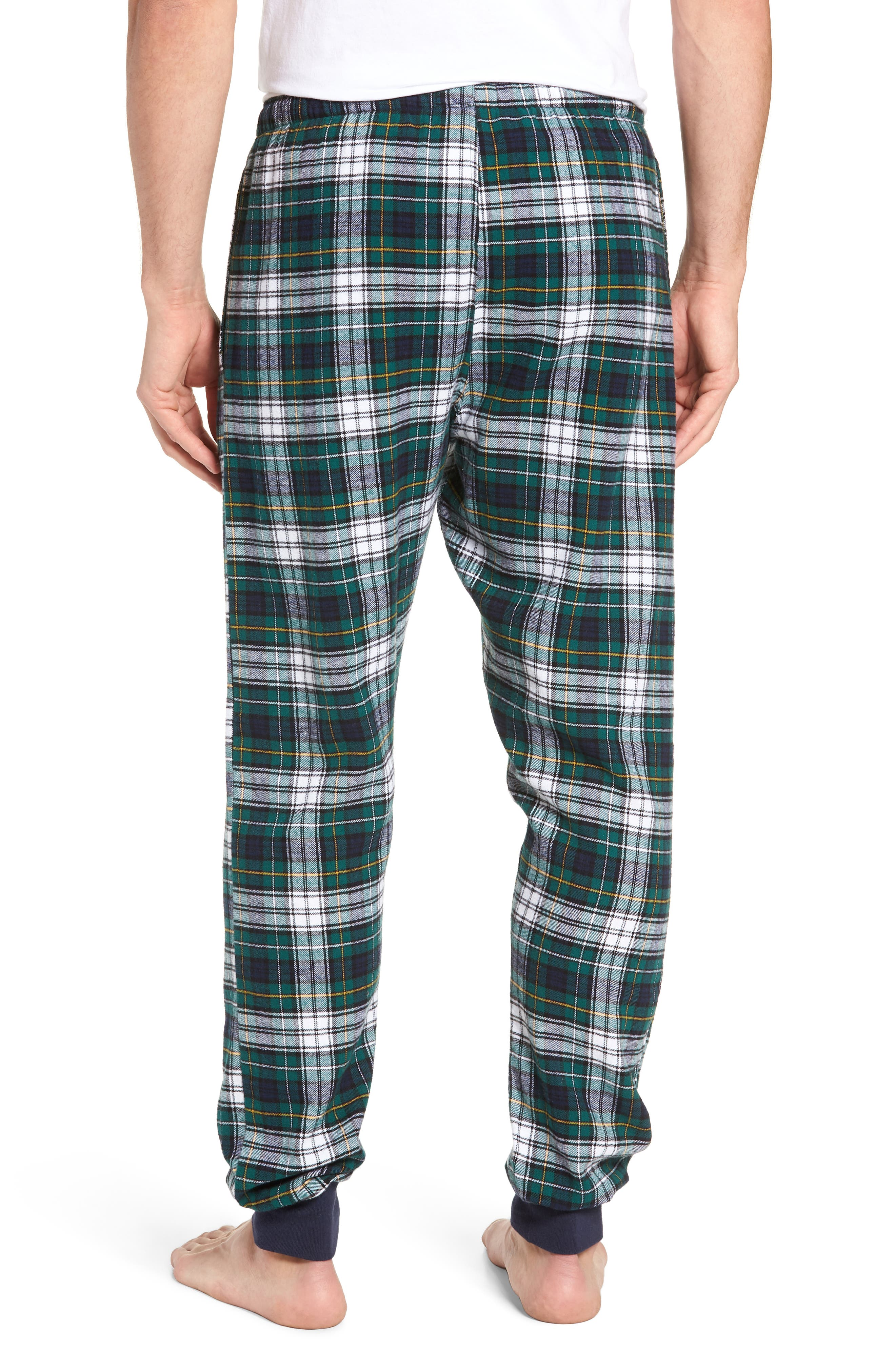 POLO RALPH LAUREN,                             Flannel Cotton Jogger Pajama Pants,                             Alternate thumbnail 2, color,                             400
