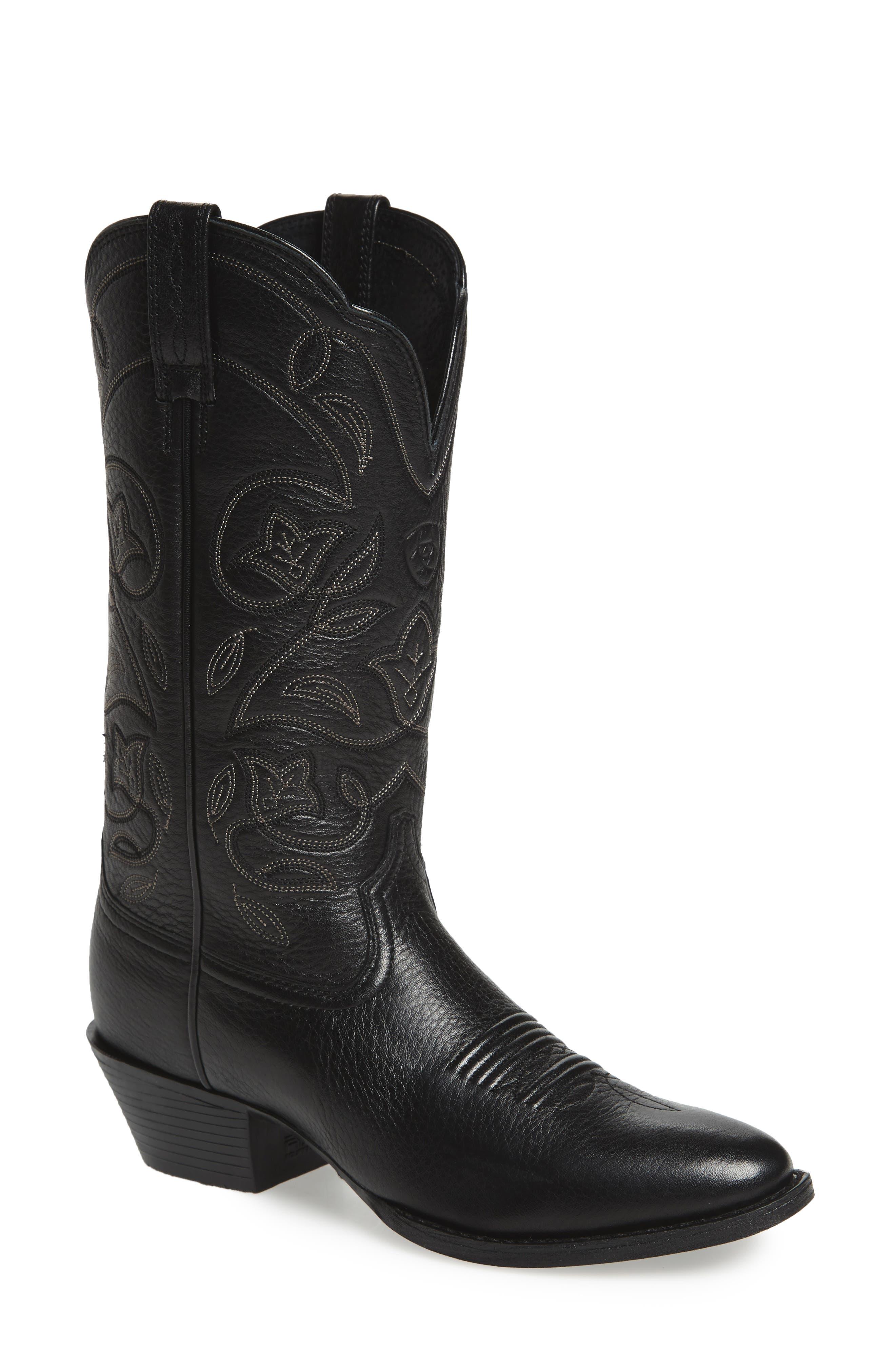Ariat Heritage Western R-Toe Boot, Black