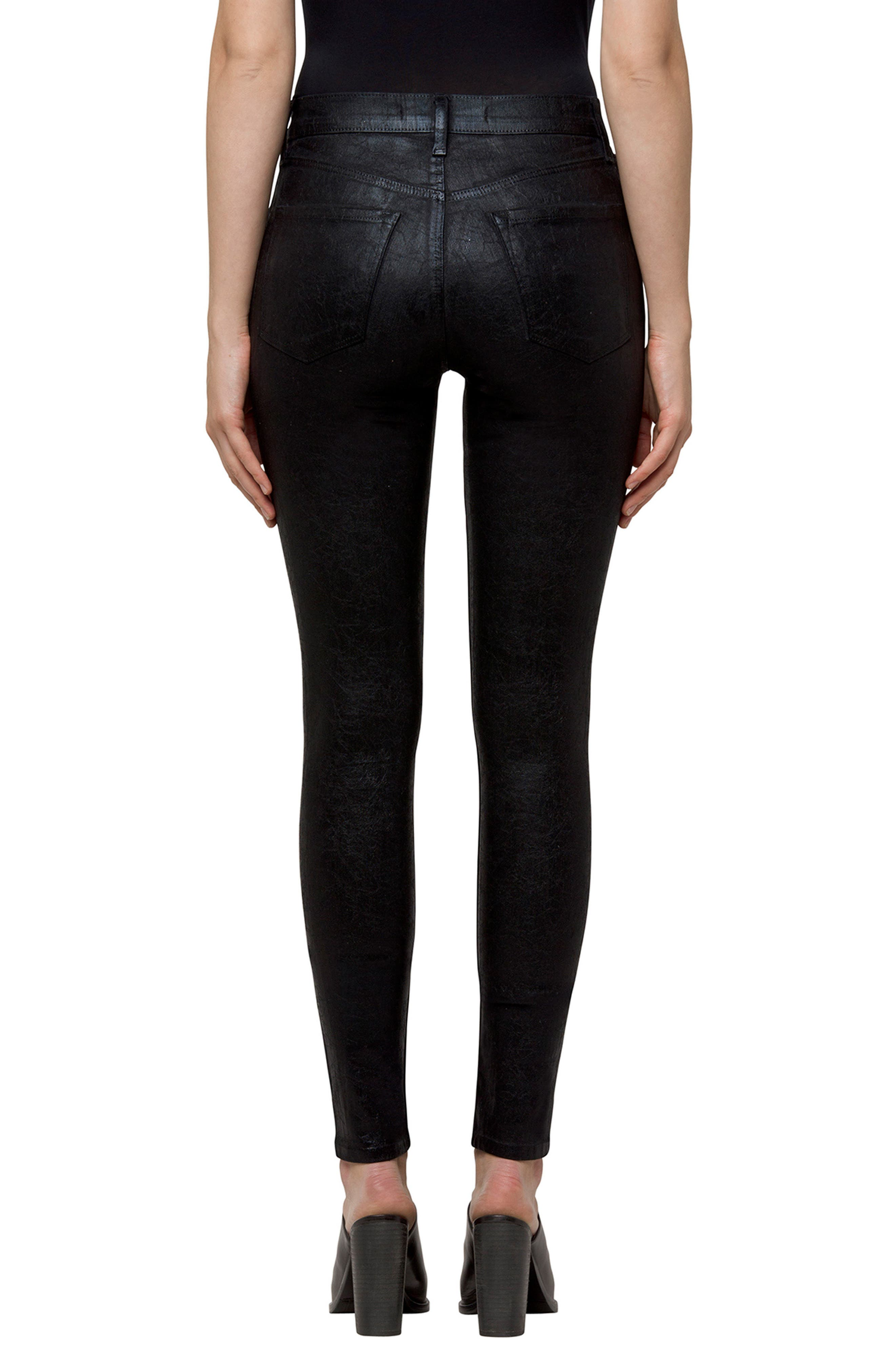 Maria High Waist Velvet Skinny Jeans,                             Alternate thumbnail 2, color,                             009