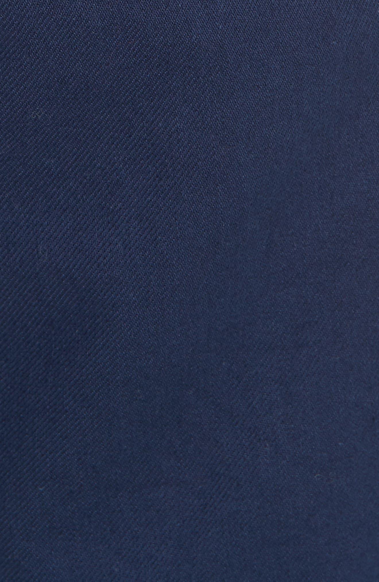 Organic Cotton Walking Shorts,                             Alternate thumbnail 5, color,                             INDIGO