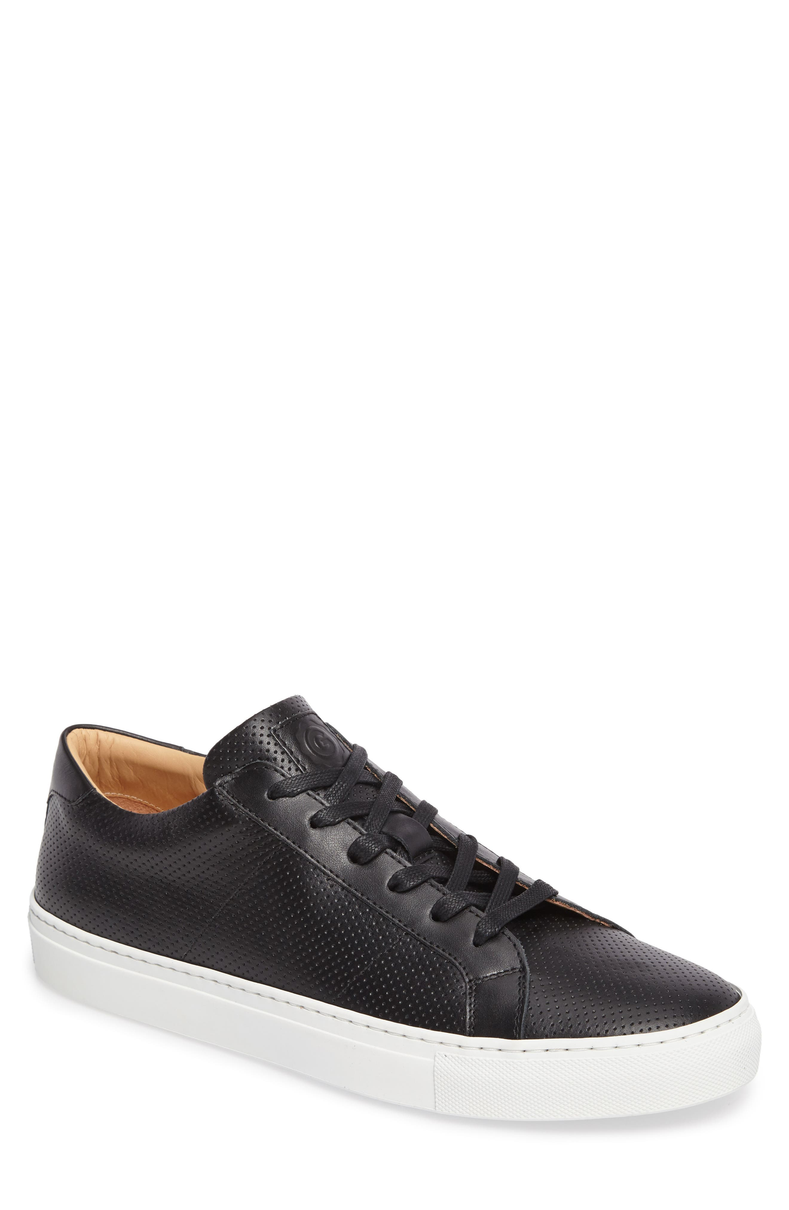 Royale Perforated Low Top Sneaker,                             Main thumbnail 1, color,                             001