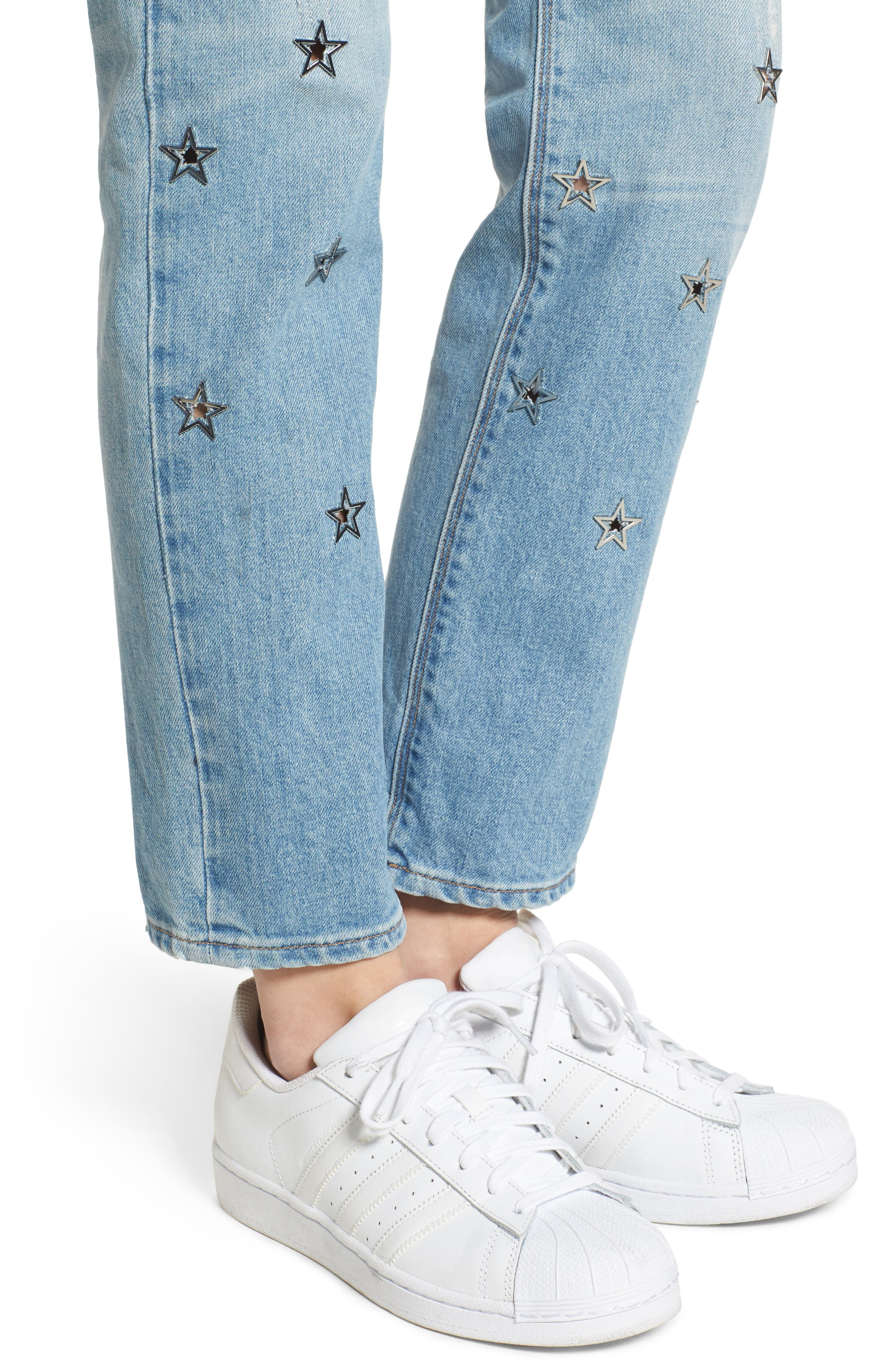 Riley Crop Relaxed Straight Leg Jeans,                             Alternate thumbnail 11, color,
