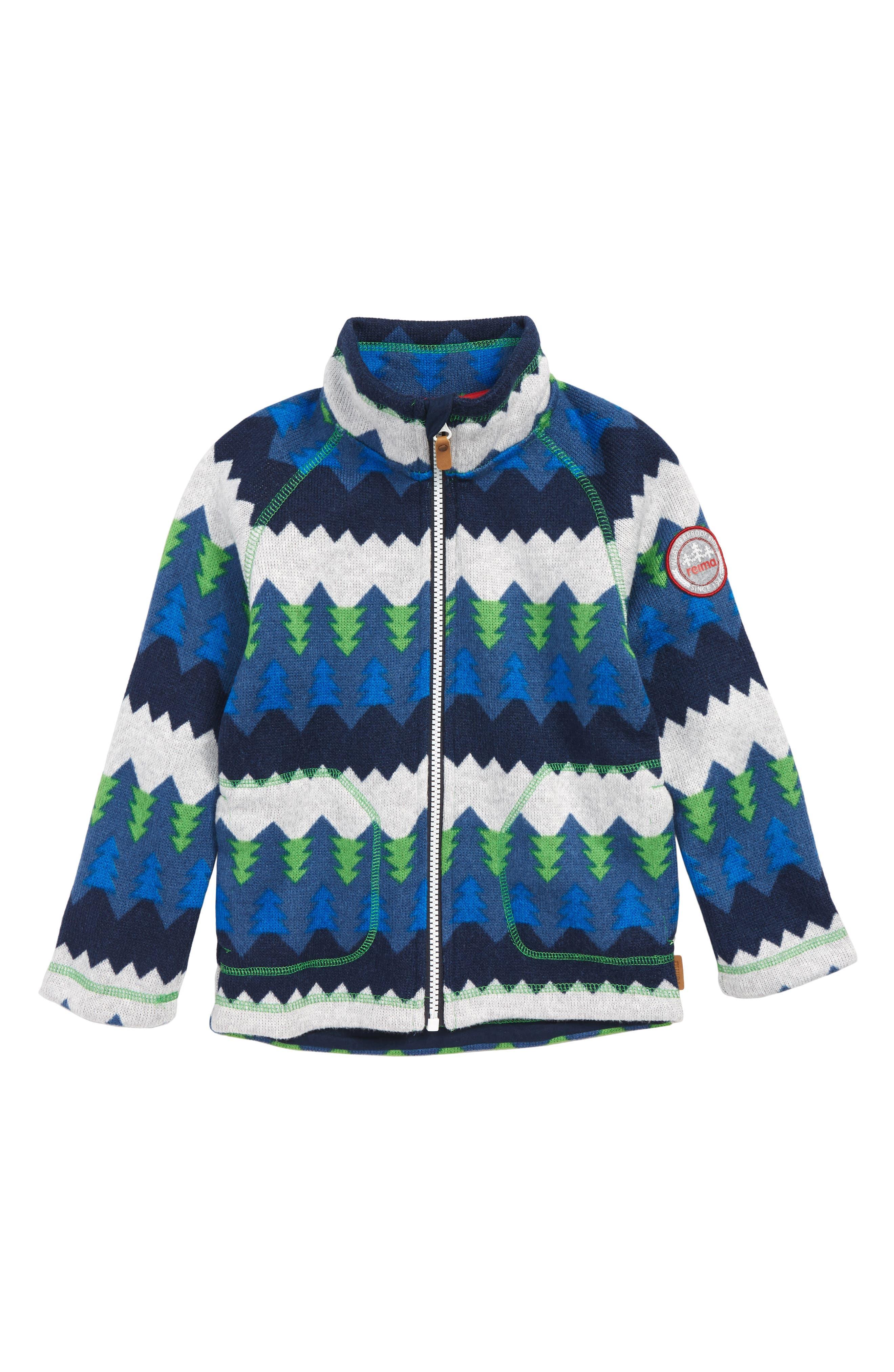 Boys Reima Brollies Knit Fleece Jacket