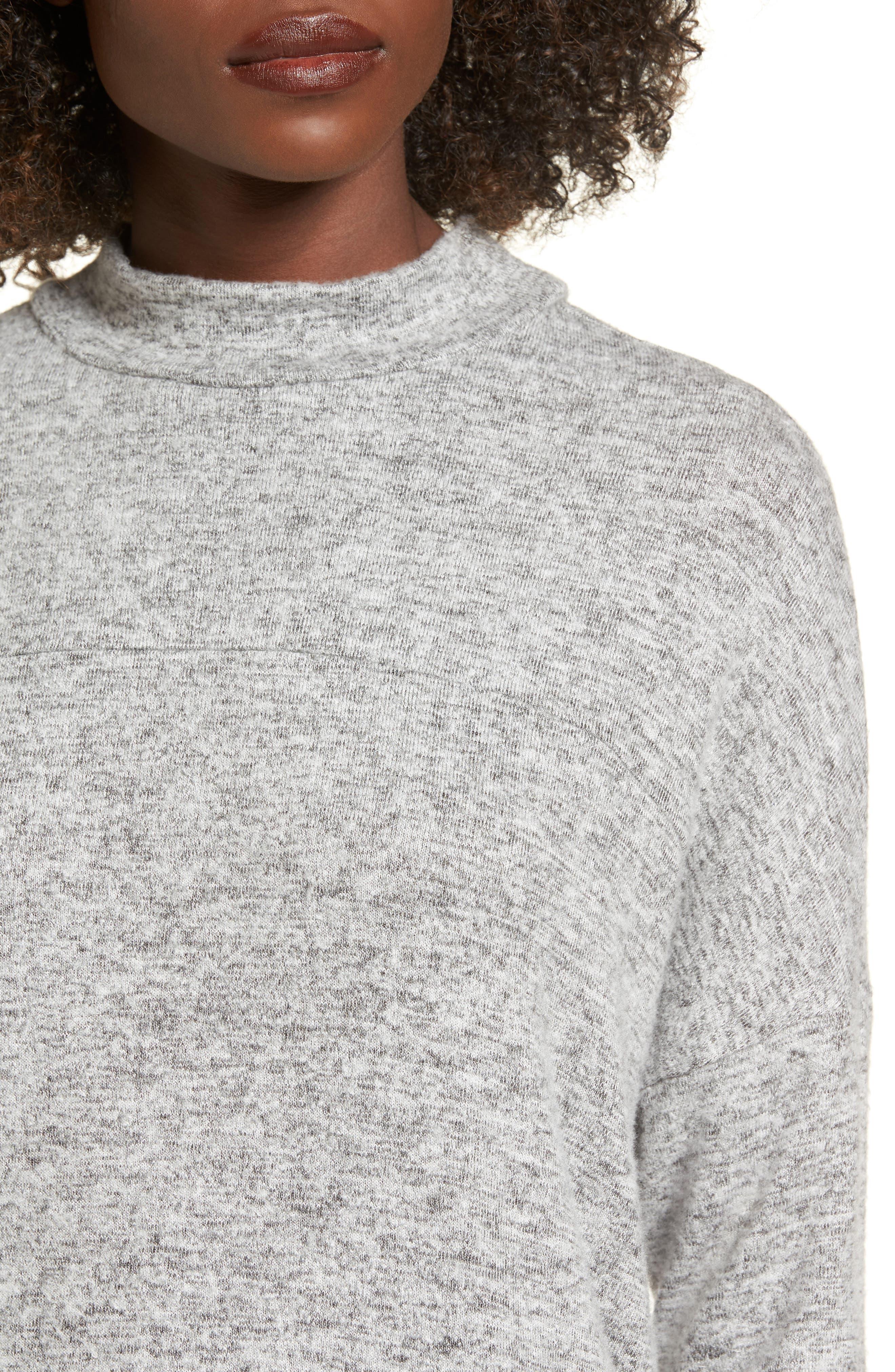 Mock Neck Sweater,                             Alternate thumbnail 4, color,                             020