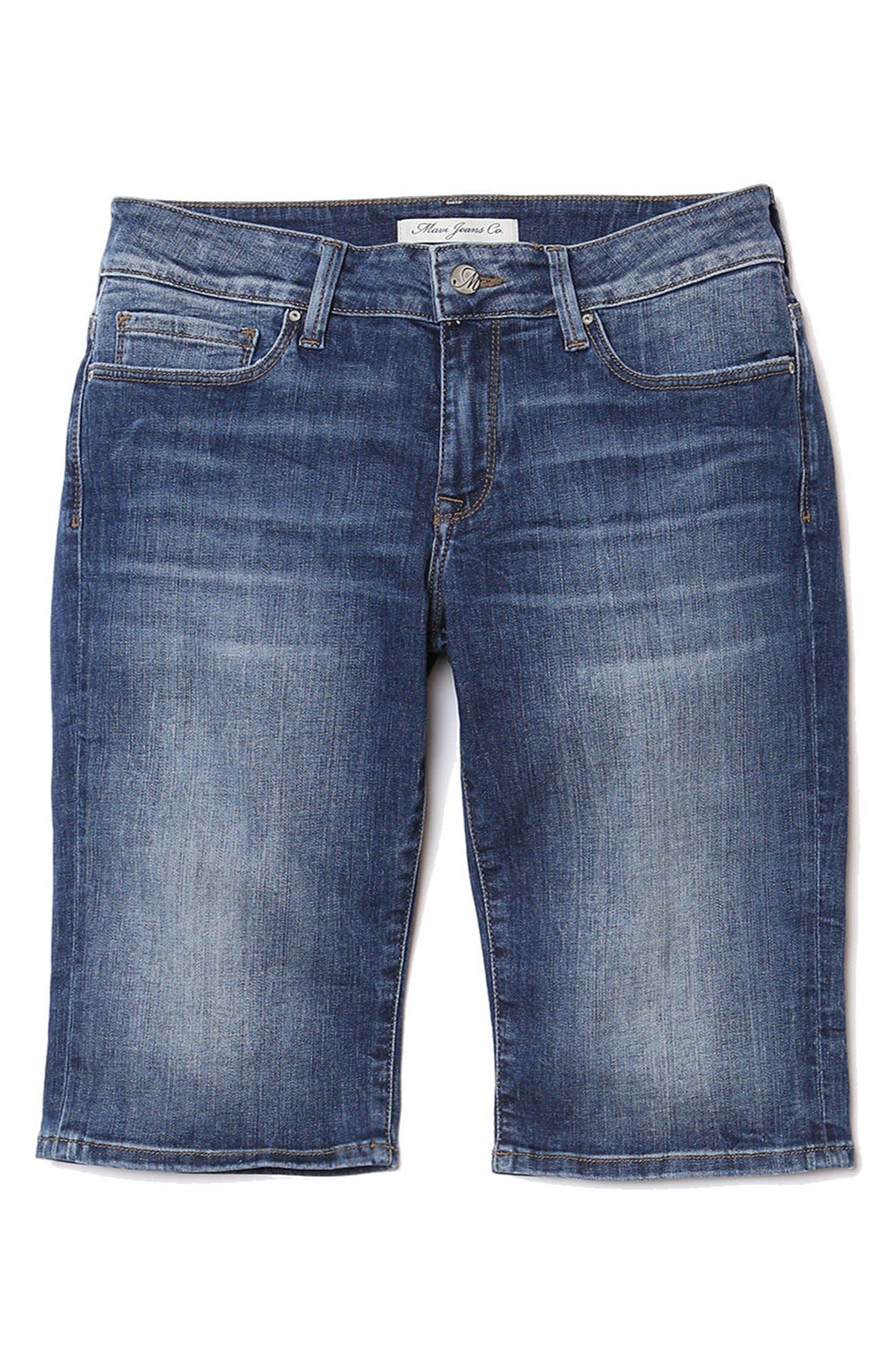 Karly Bermuda Shorts,                             Alternate thumbnail 4, color,                             DARK INDIGO TRIBECA