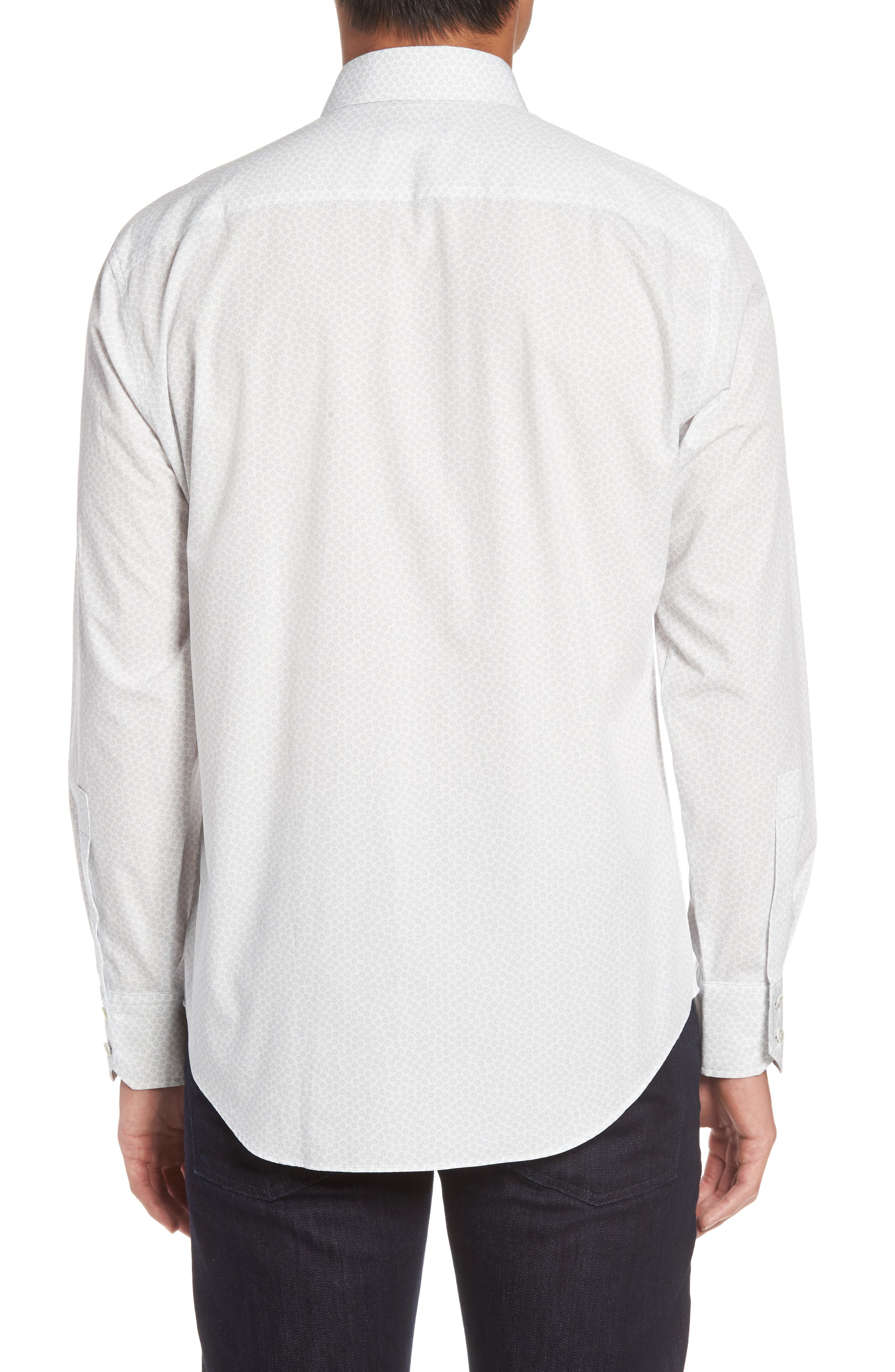 Owens Slim Fit Print Sport Shirt,                             Alternate thumbnail 2, color,                             100