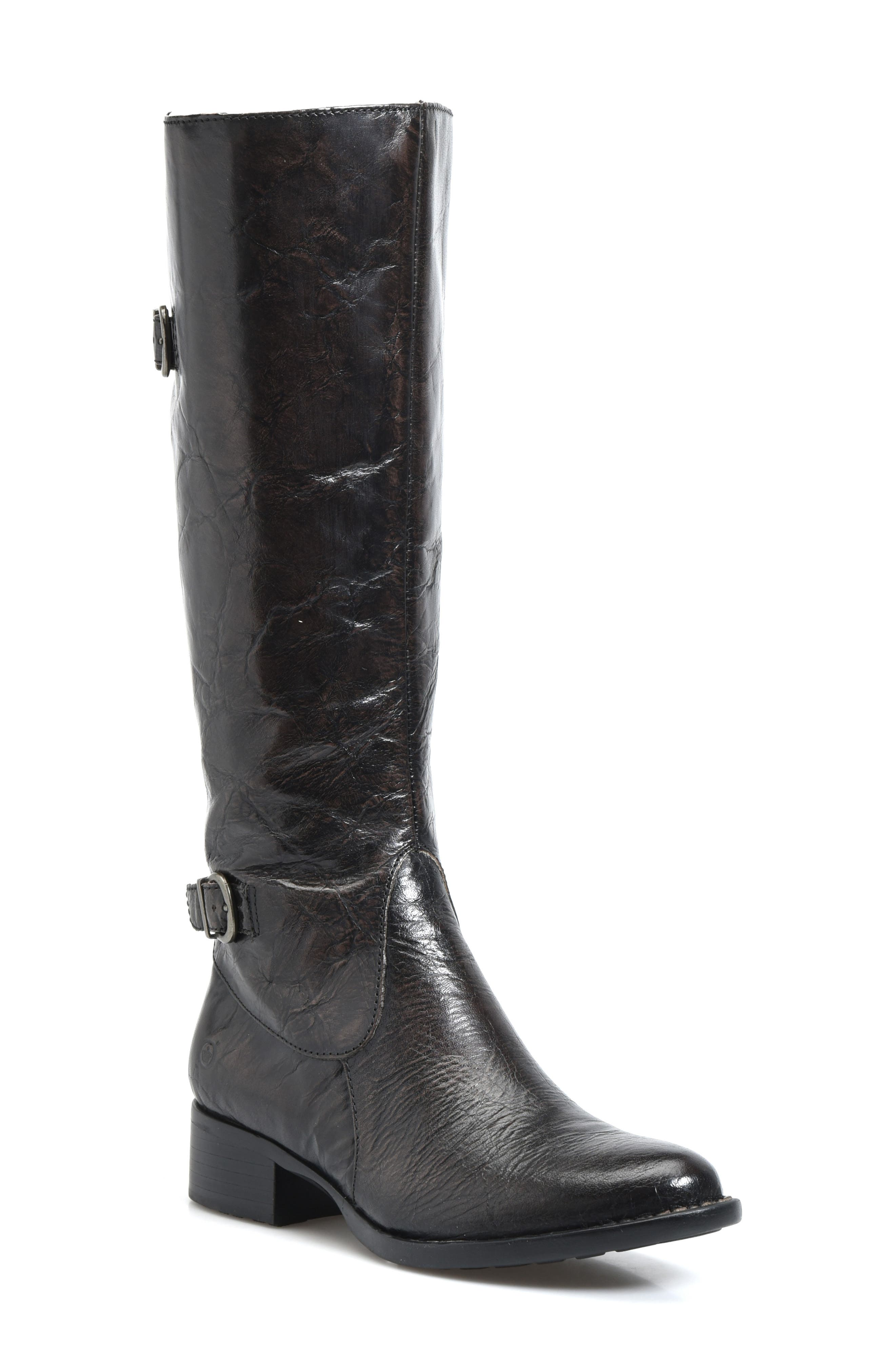 B?rn Gibb Knee High Riding Boot, Wide Calf- Grey