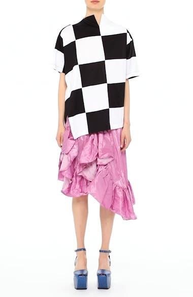 Marques'Almeida Asymmetrical Ruffle Taffeta Skirt, video thumbnail