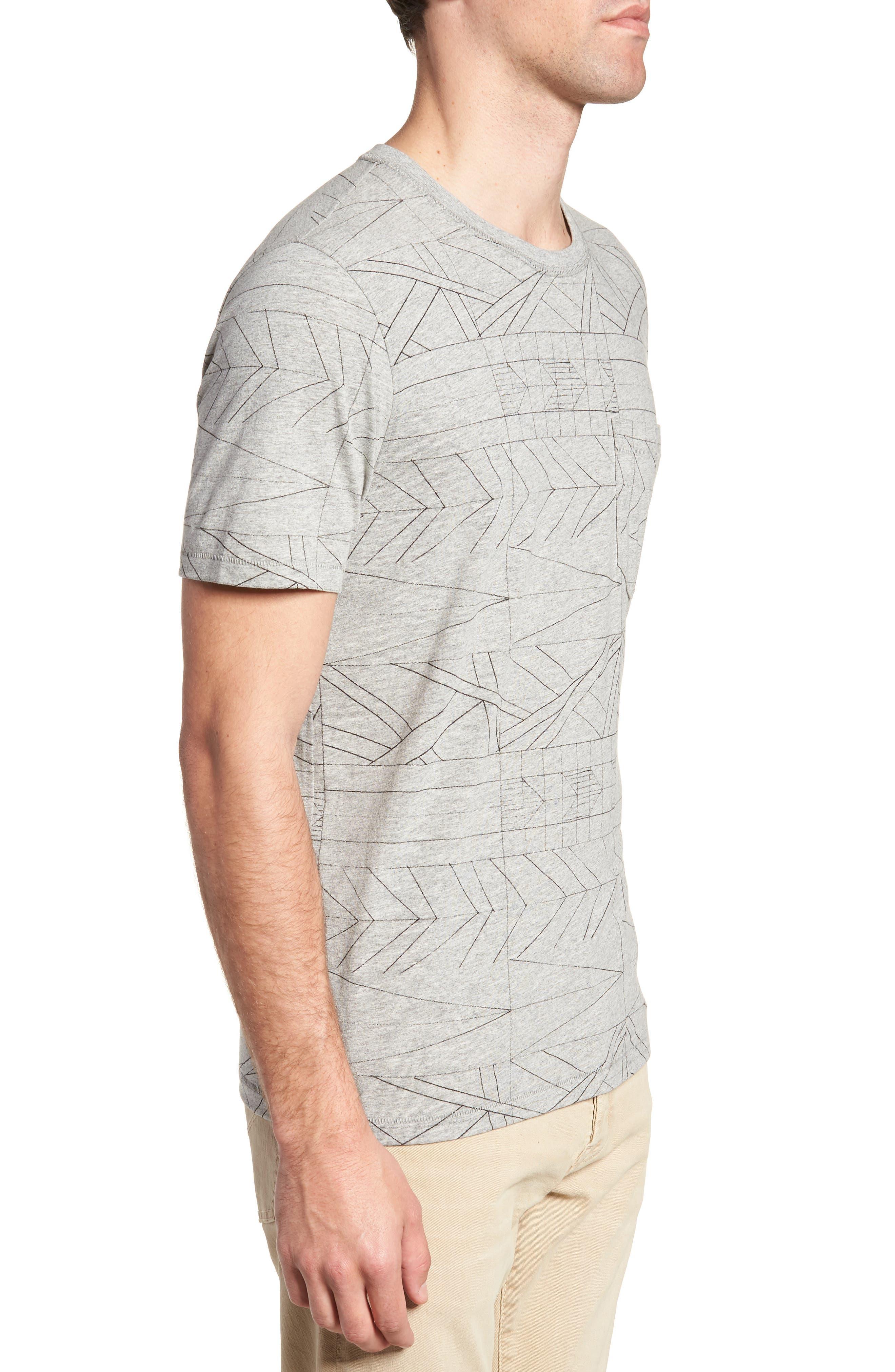 Fracture Line Crewneck T-Shirt,                             Alternate thumbnail 3, color,                             FRACTURE LINE