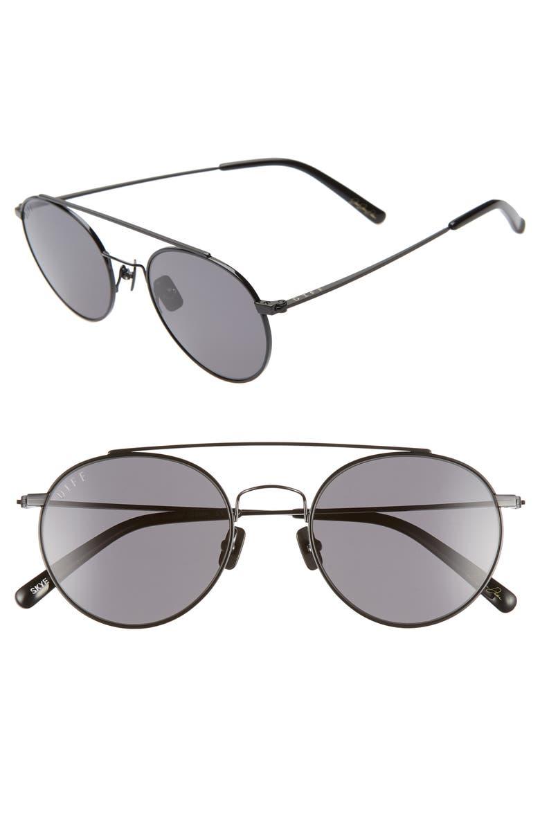 e4c182abb52 DIFF x Jessie James Decker Skye 52mm Polarized Round Sunglasses ...