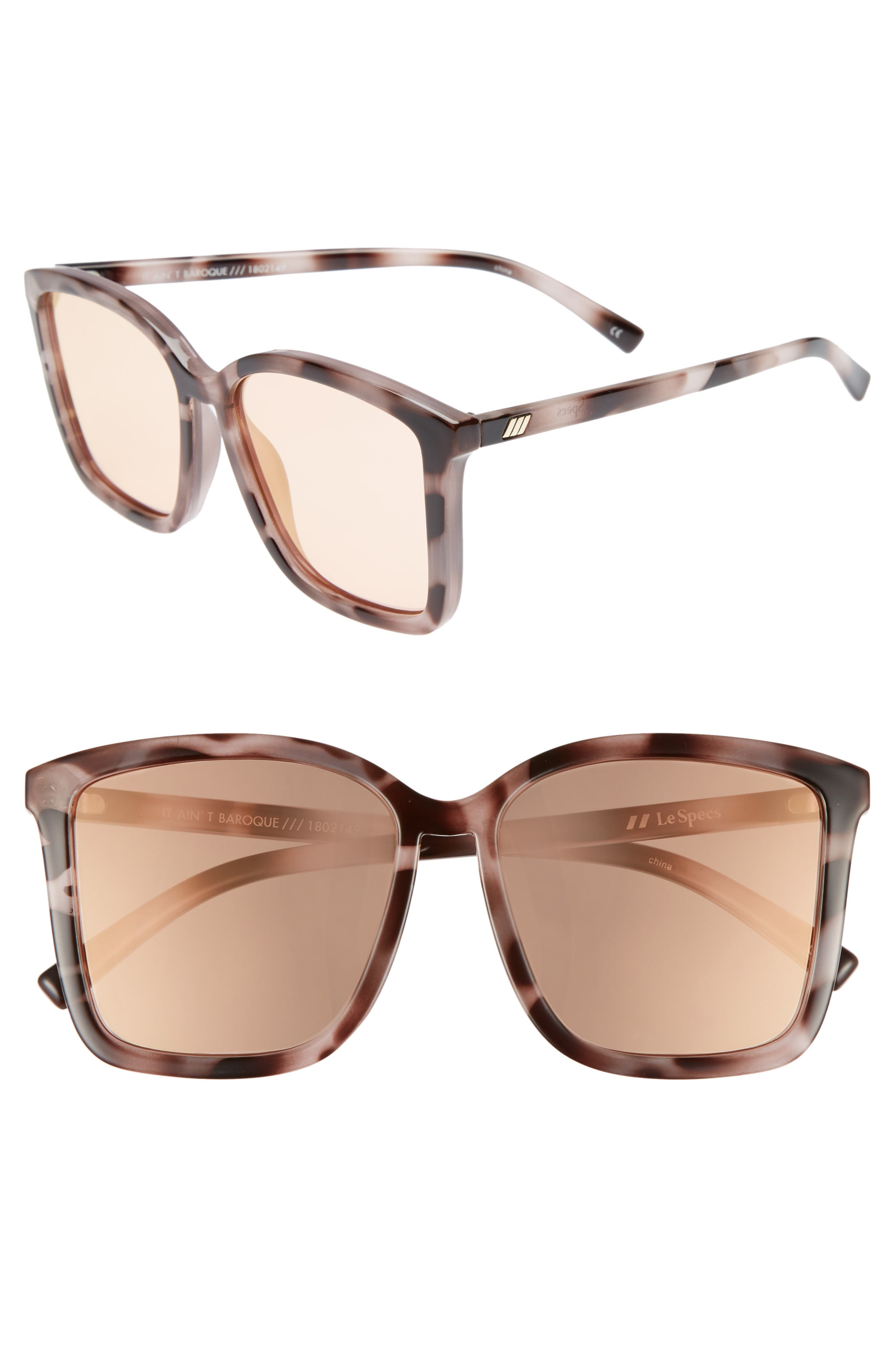 It Ain't Baroque 55mm Sunglasses,                         Main,                         color, APRICOT TORT