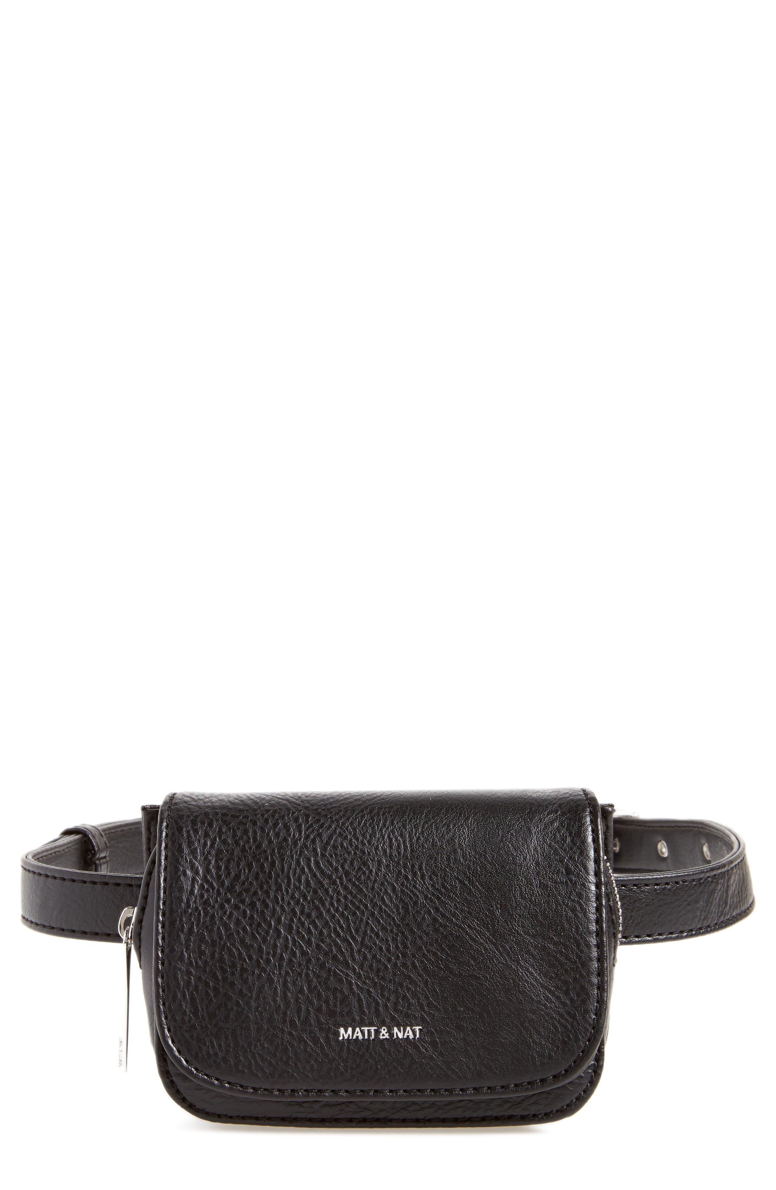 Aki Faux Leather Belt Bag,                         Main,                         color, 001