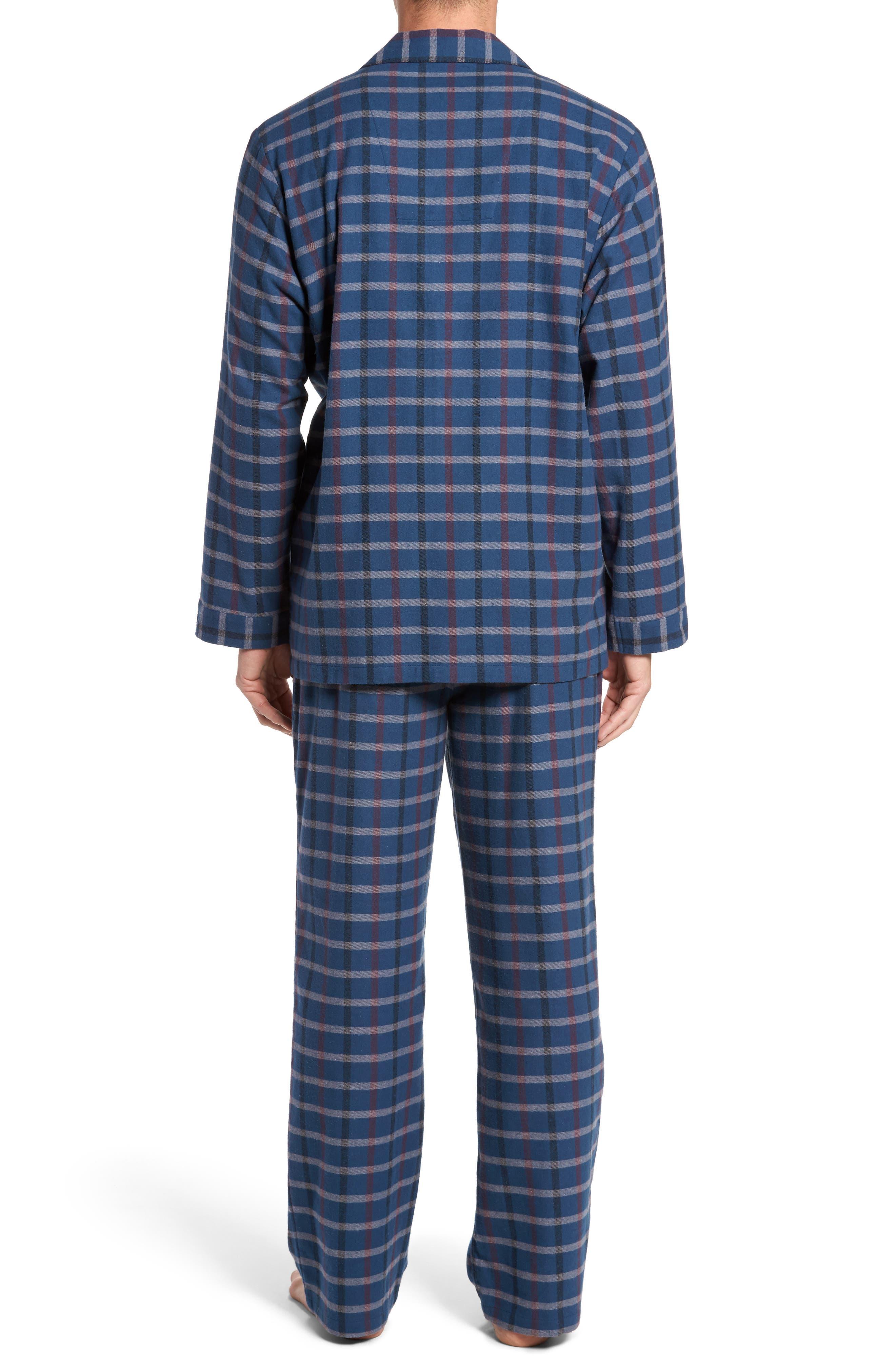 '824' Flannel Pajama Set,                             Alternate thumbnail 37, color,
