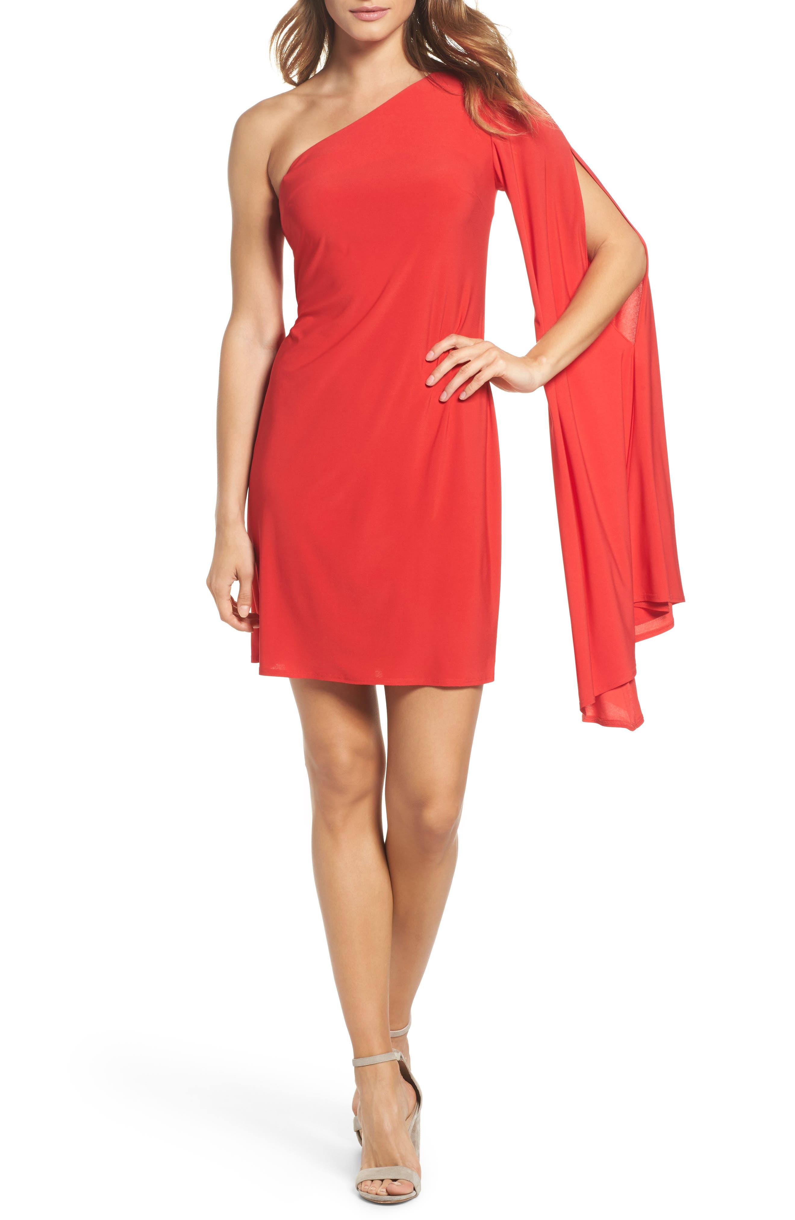 Musa One-Shoulder Dress,                         Main,                         color,