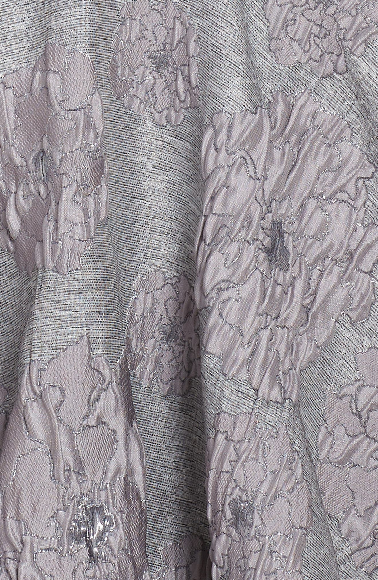 Flocked Jacquard Skater Dress,                             Alternate thumbnail 3, color,                             020