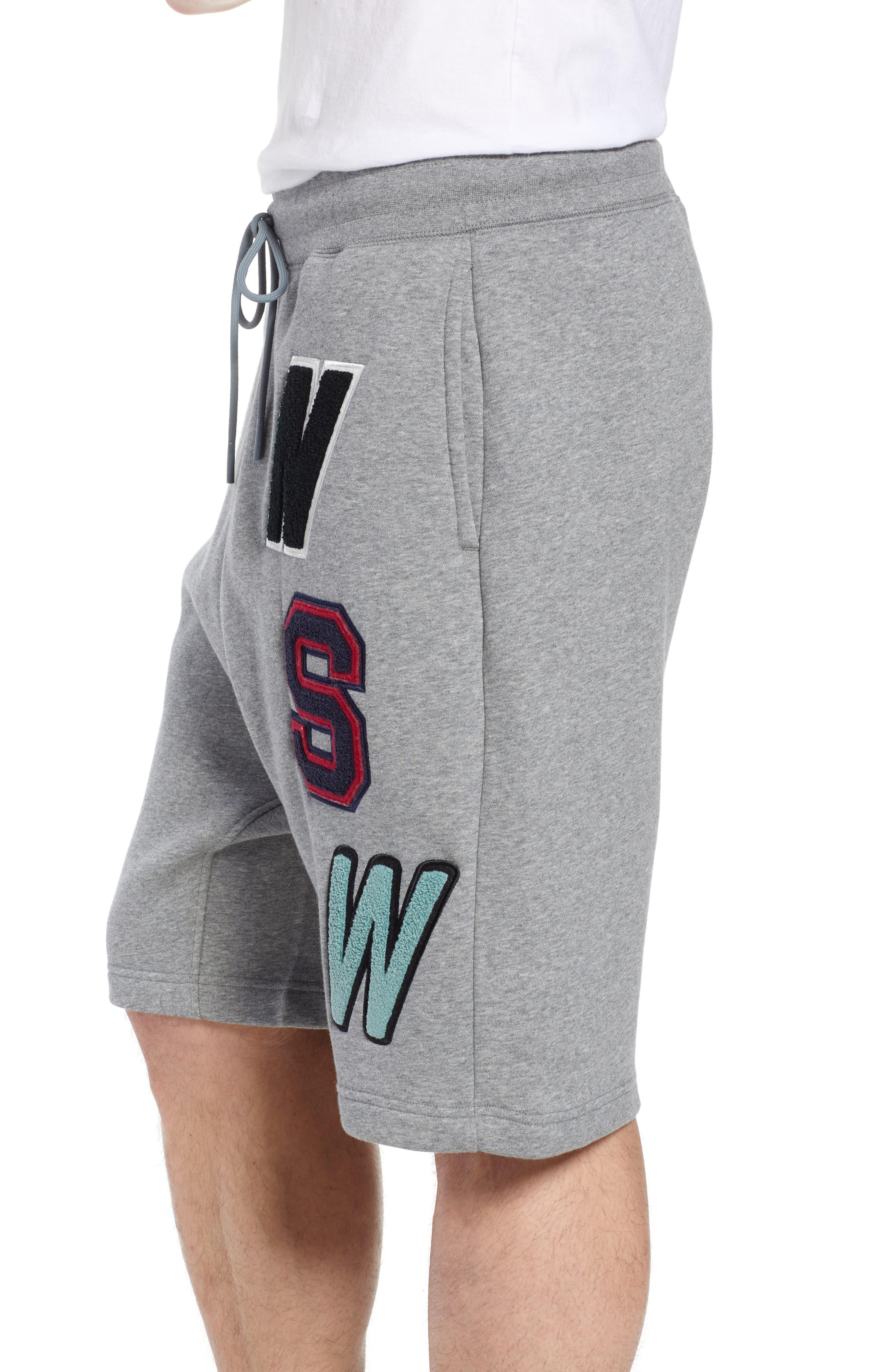 NSW Fleece Shorts,                             Alternate thumbnail 3, color,                             091