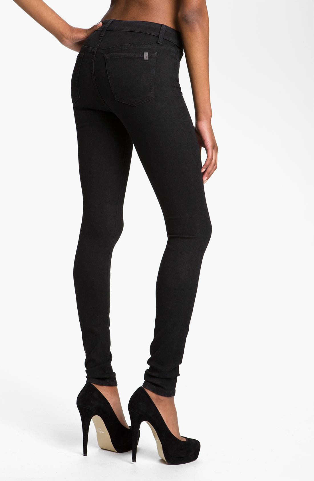 Skinny Stretch Jeans,                             Alternate thumbnail 3, color,                             001