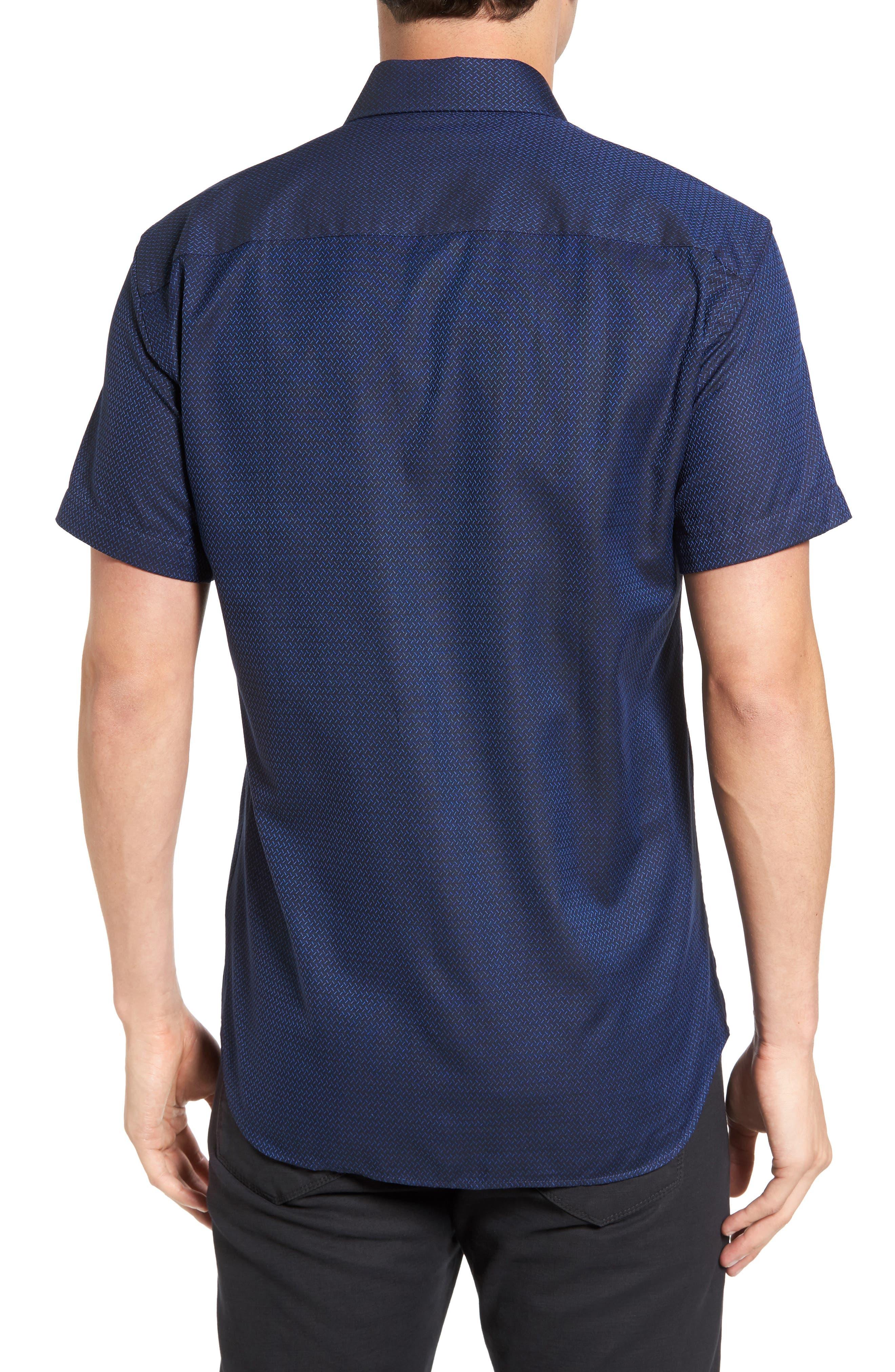 Trim Fit Print Sport Shirt,                             Alternate thumbnail 2, color,                             410