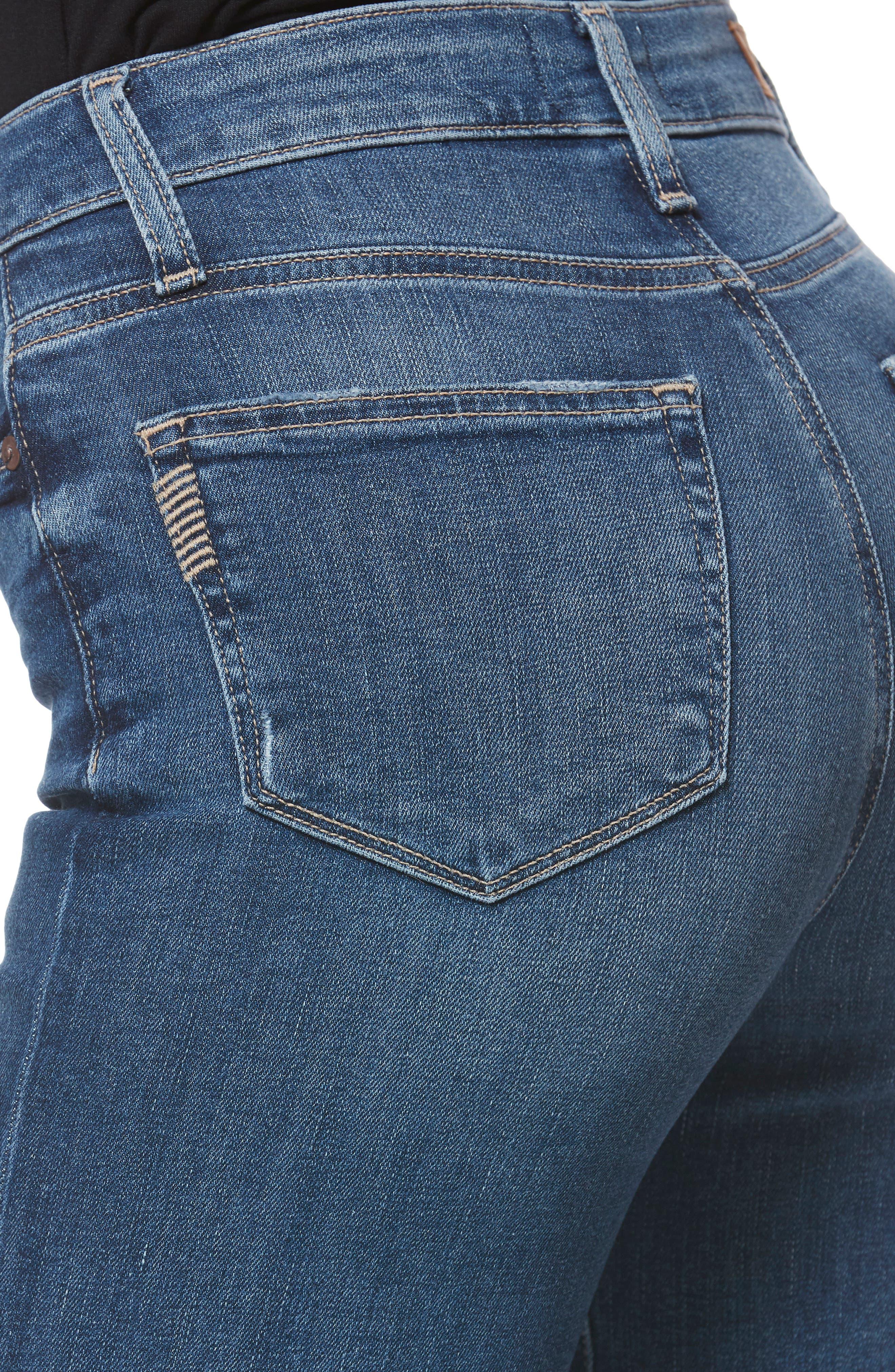 Transcend Vintage - Margot High Waist Ankle Straight Leg Jeans,                             Alternate thumbnail 4, color,                             HANNIE