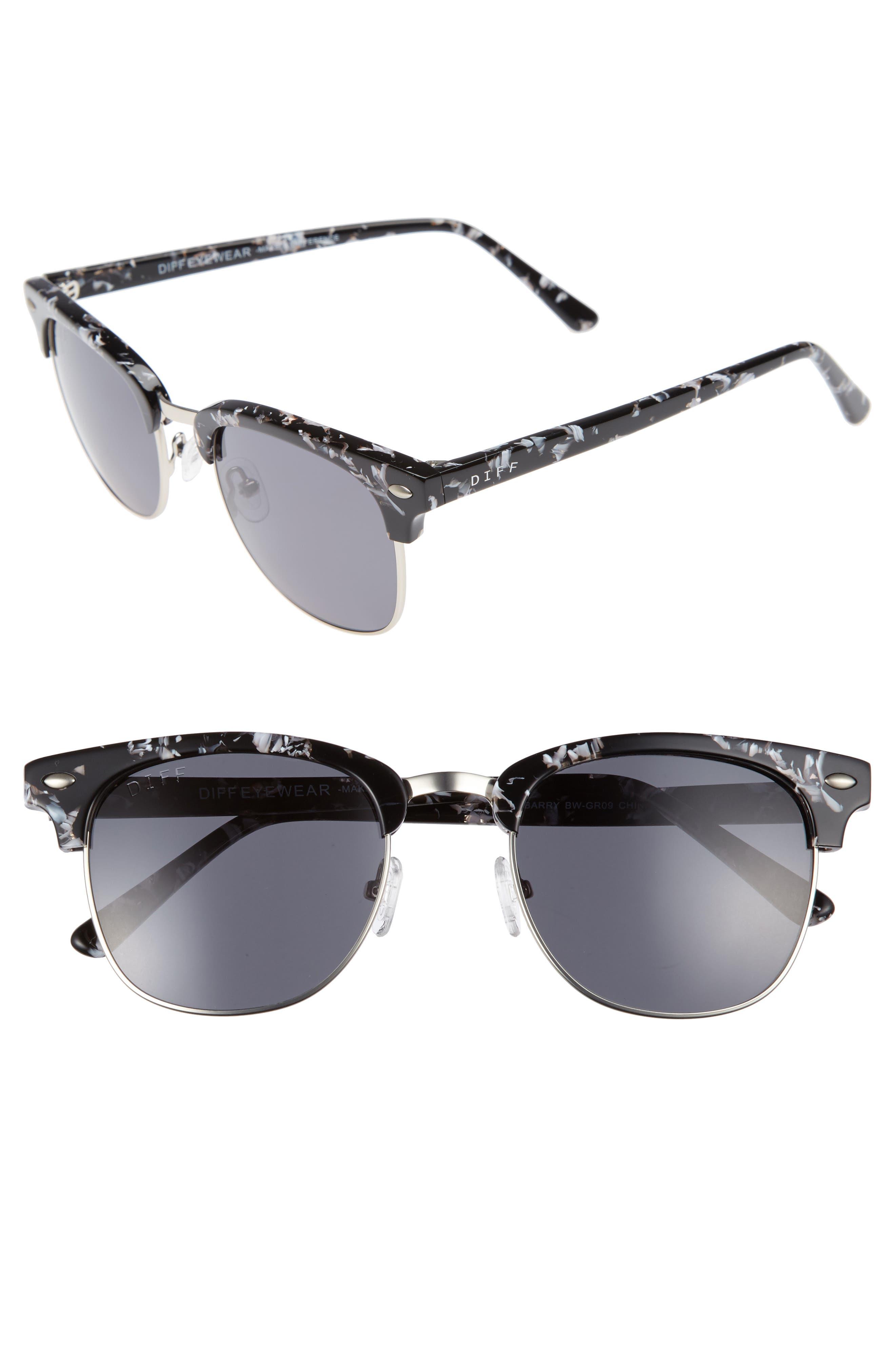 Barry 51mm Polarized Retro Sunglasses,                             Main thumbnail 3, color,