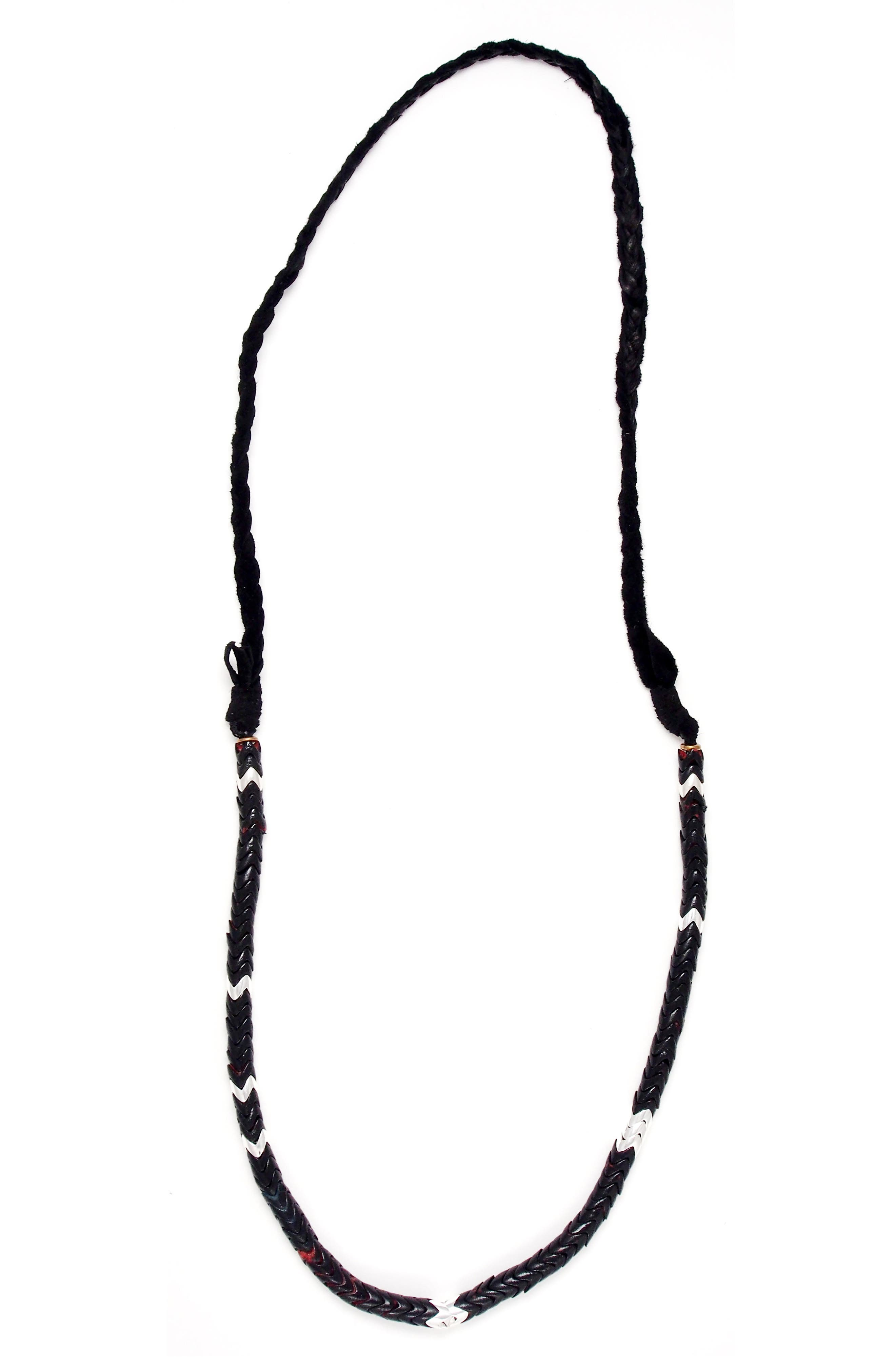 Snake Bead Necklace,                         Main,                         color, 001