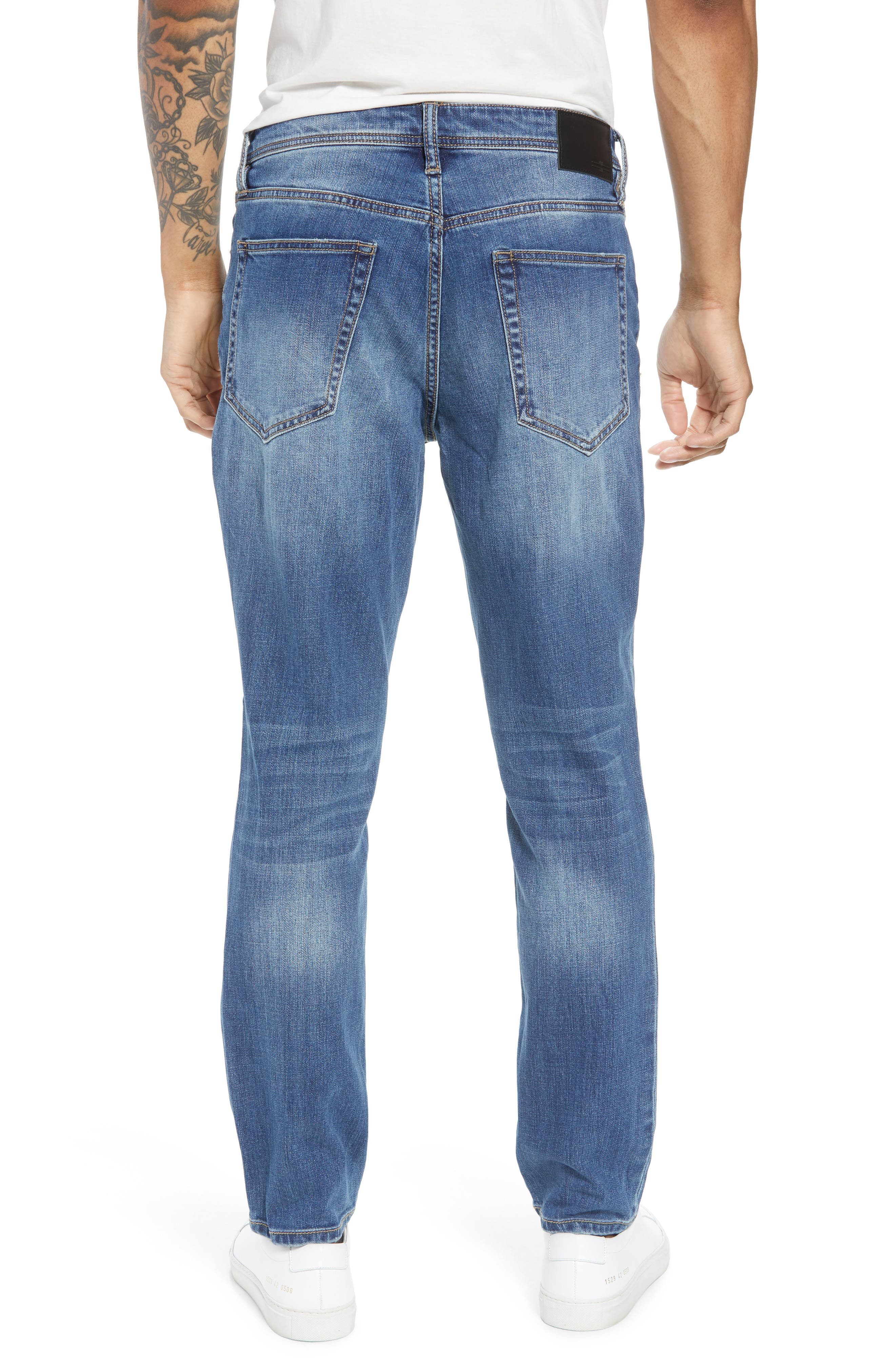 Jeans Co. Slim Straight Leg Jeans,                             Alternate thumbnail 2, color,                             BRYSON VINTAGE MED
