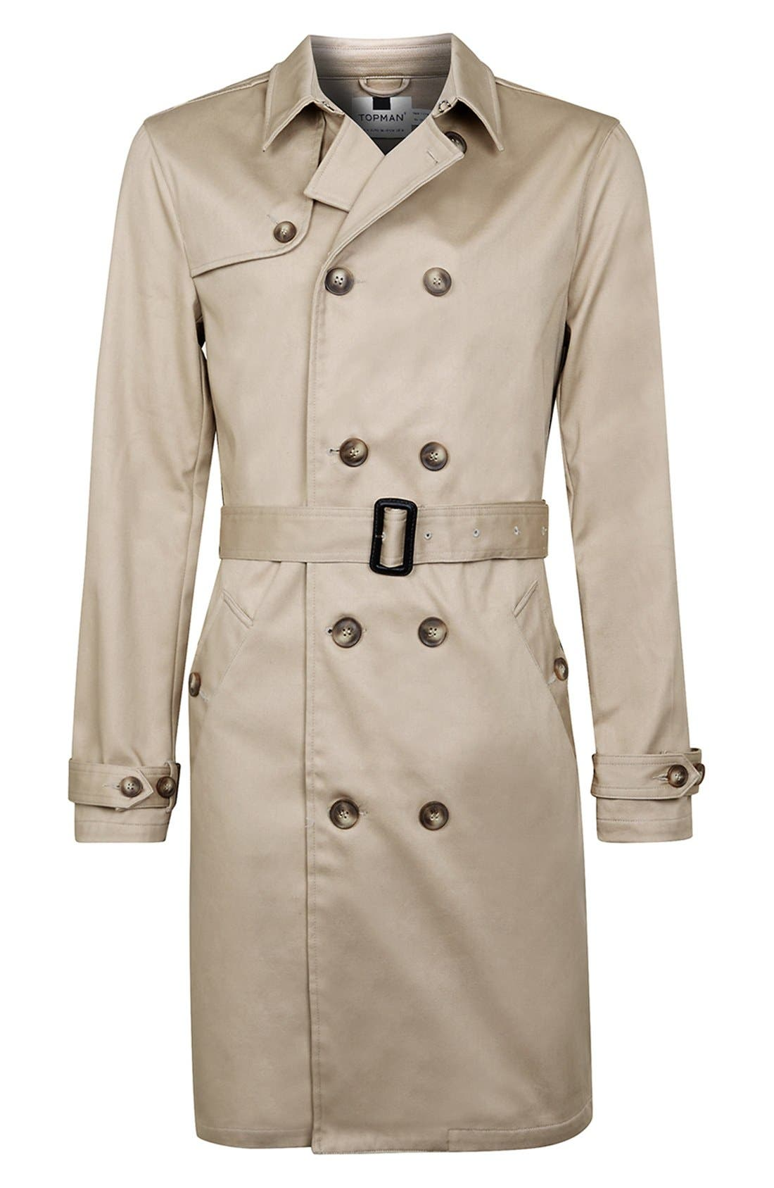Double Breasted Trench Coat,                             Alternate thumbnail 5, color,                             250